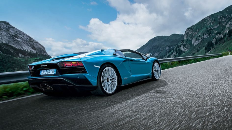 Lamborghini Aventador S Roadster - 2017 - rear road
