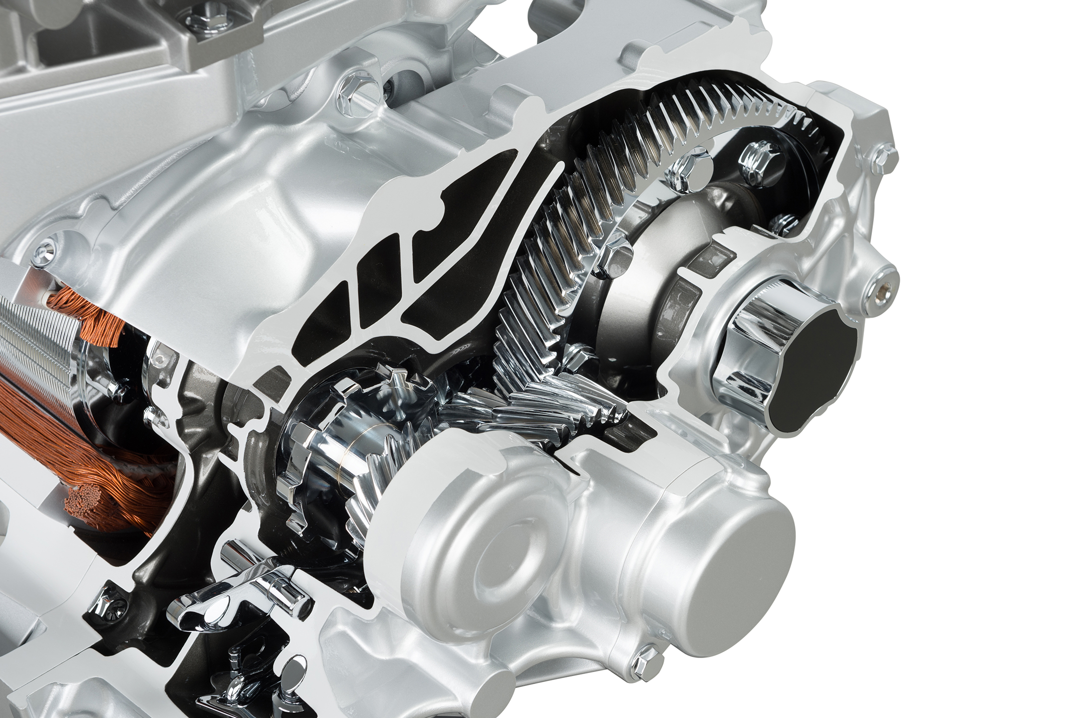 Nissan LEAF 2.0 - 2017 - engine e-powertrain inside gears