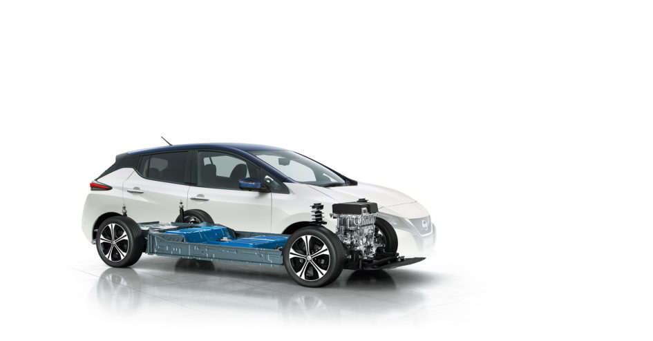 Nissan LEAF 2.0 - 2017 - under the hood full EV e-powertrain