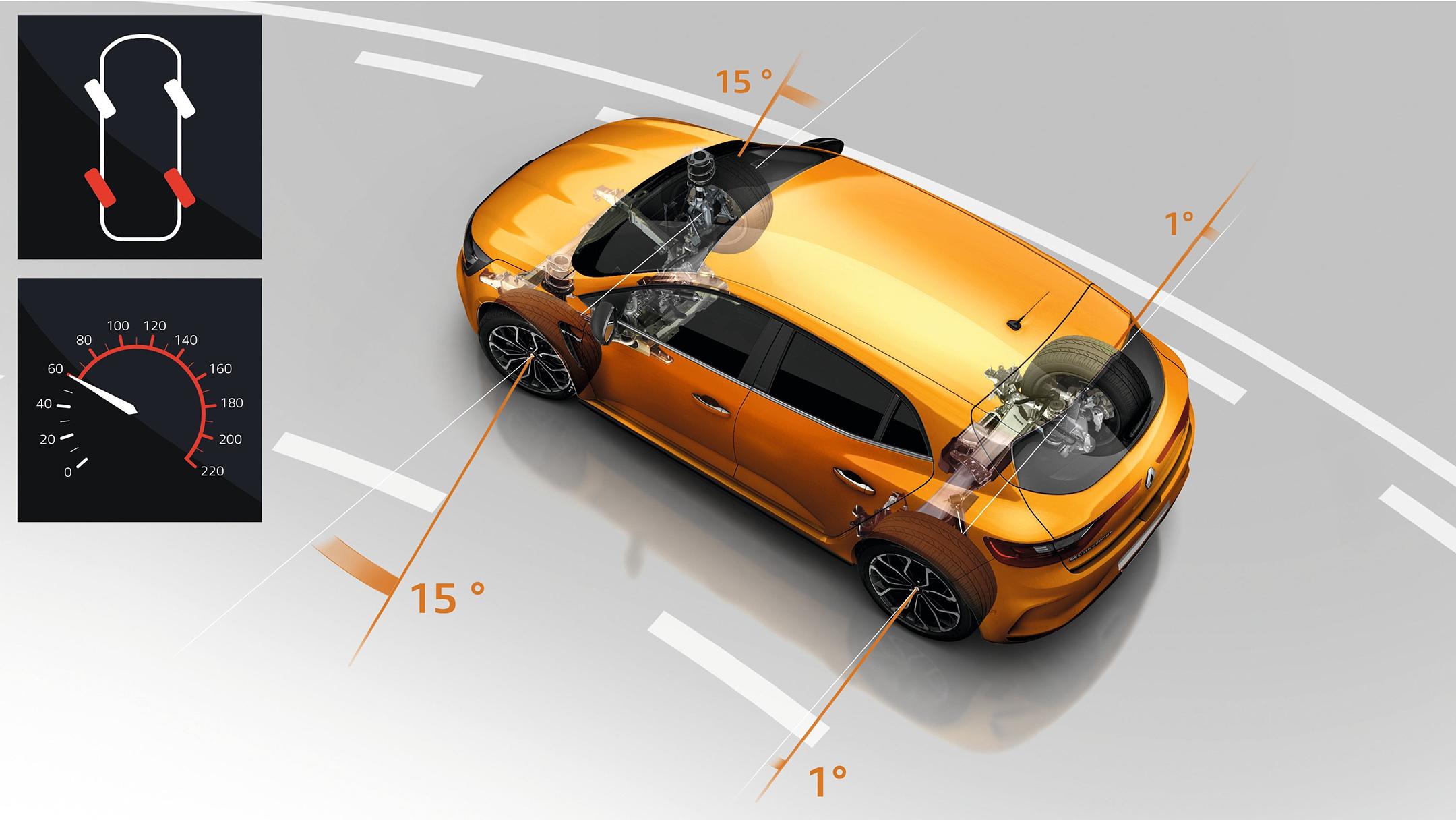 Renault Mégane R.S. - 2017 - châssis 4CONTROL à plus de 60 km/h