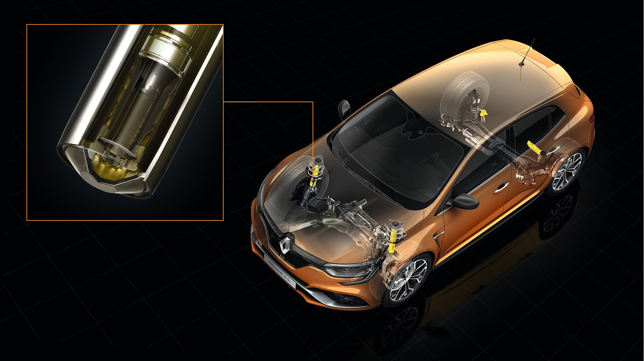 Renault Mégane R.S. - 2017 - châssis