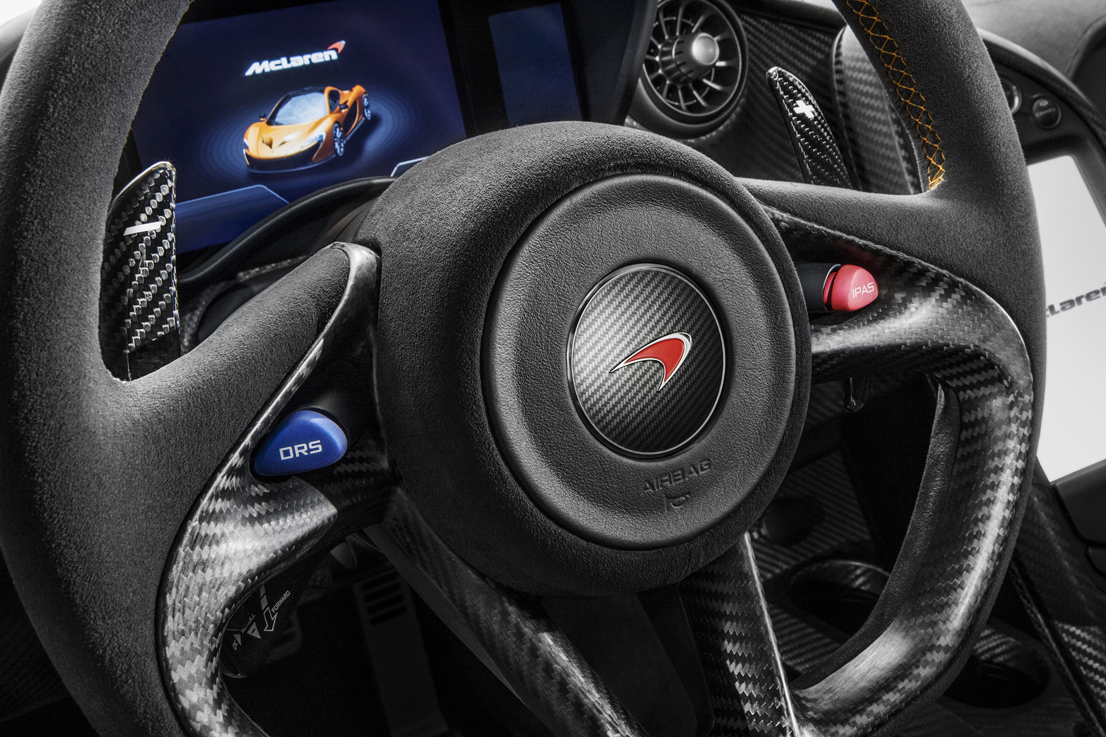 McLaren P1 - 2013 - driving wheel / volant