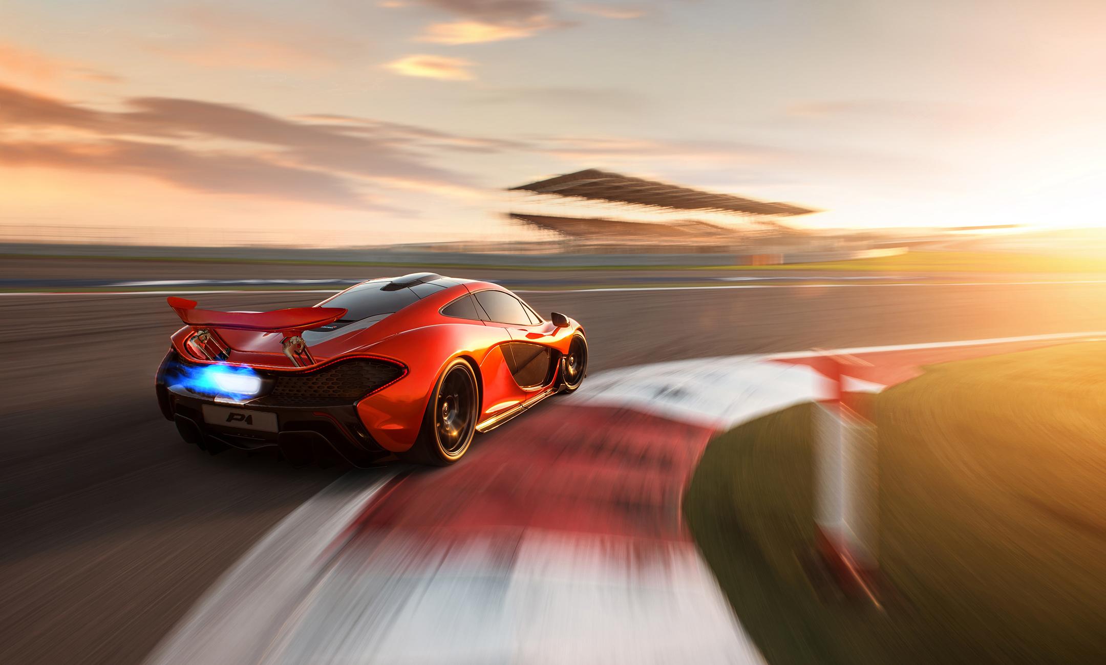 McLaren P1 - 2012 - rear track