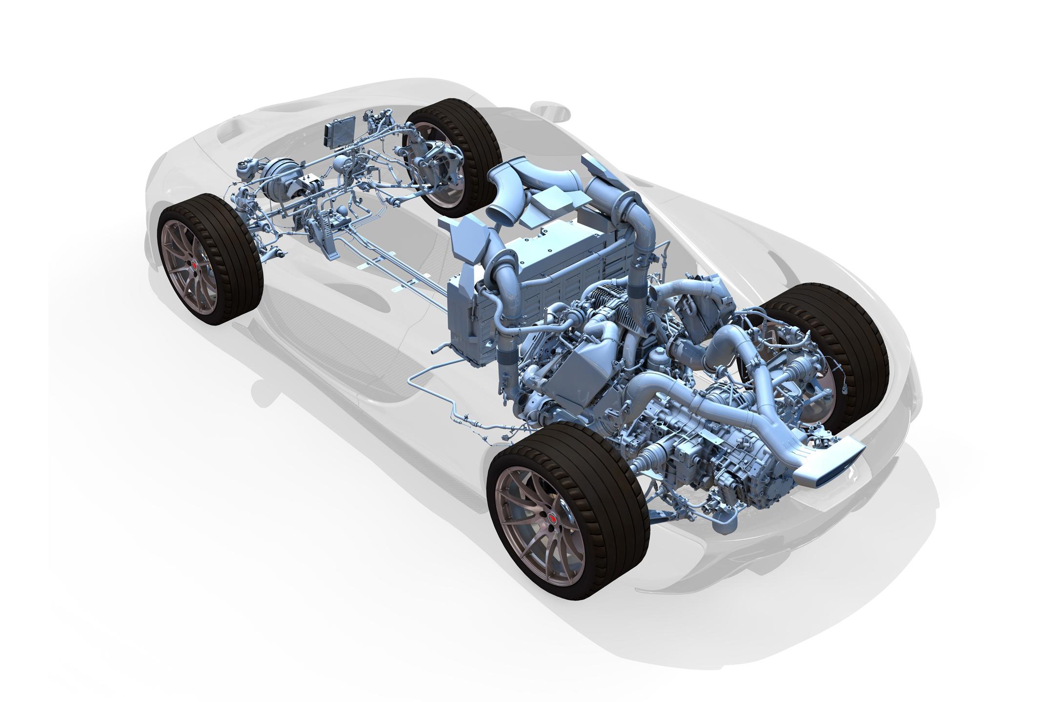 McLaren P1 - 2013 - powertrain