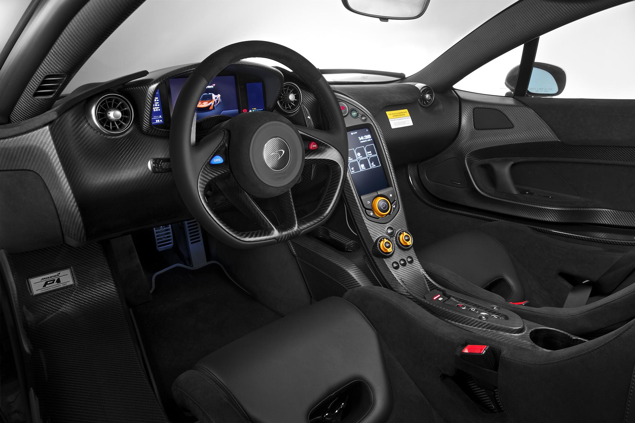 McLaren P1 MSO - 2015 - interior / intérieur