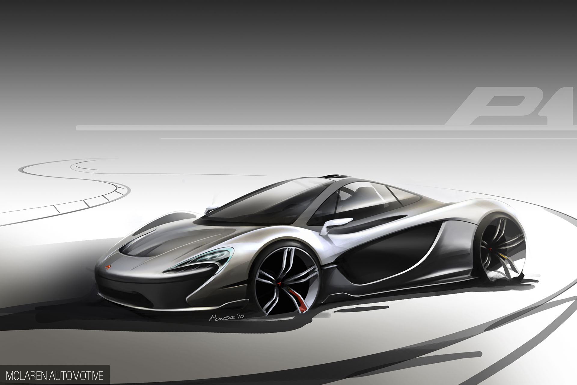 McLaren P1 - 2012 - sketch - front design by Howse