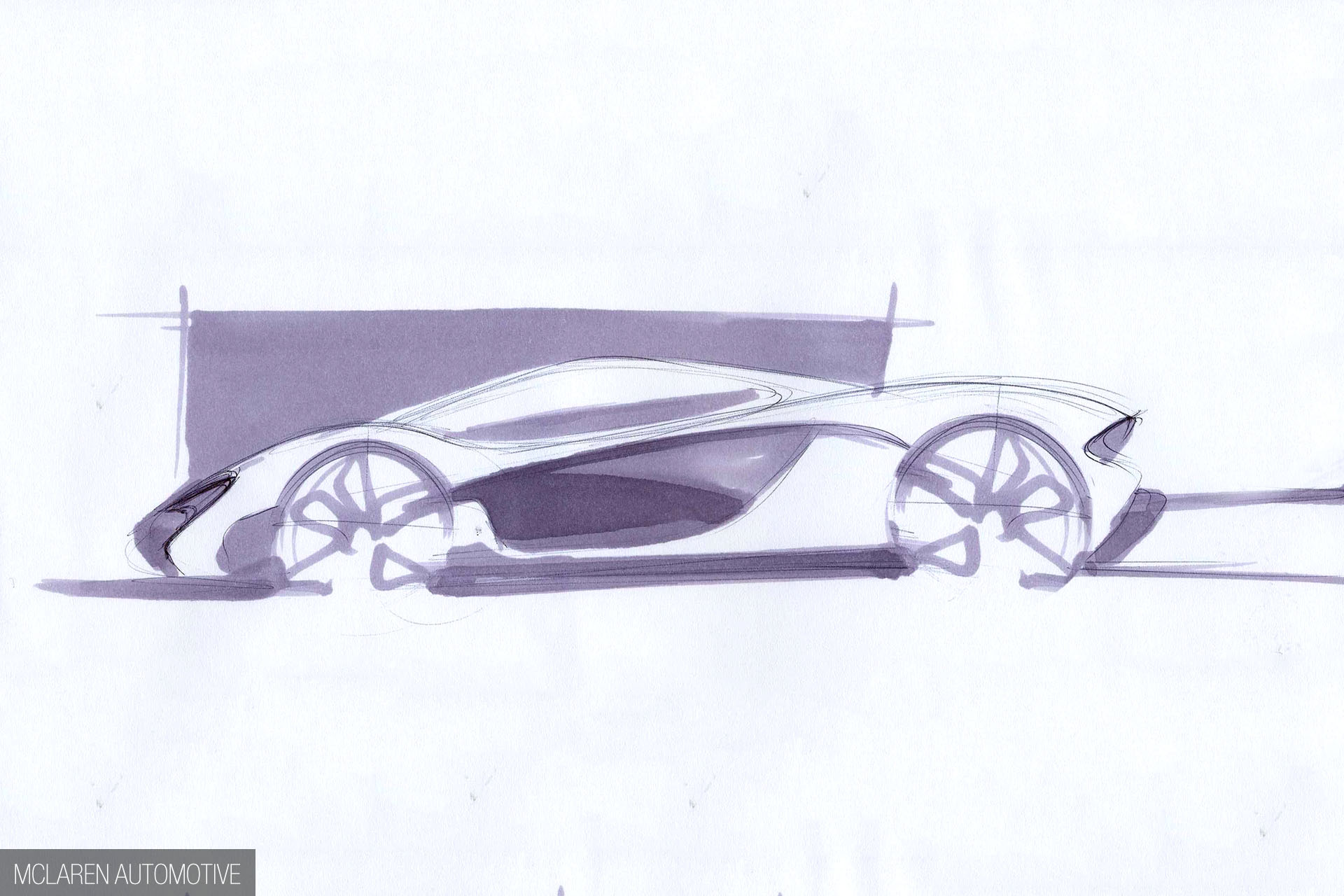 McLaren P1 - 2012 - sketch - side-face design