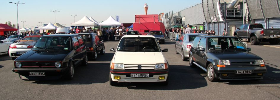 VW Golf GTI und Peugeot 205GTI et Renault R5GT Turbo - Automedon 2017 - photo Ludo Ferrari