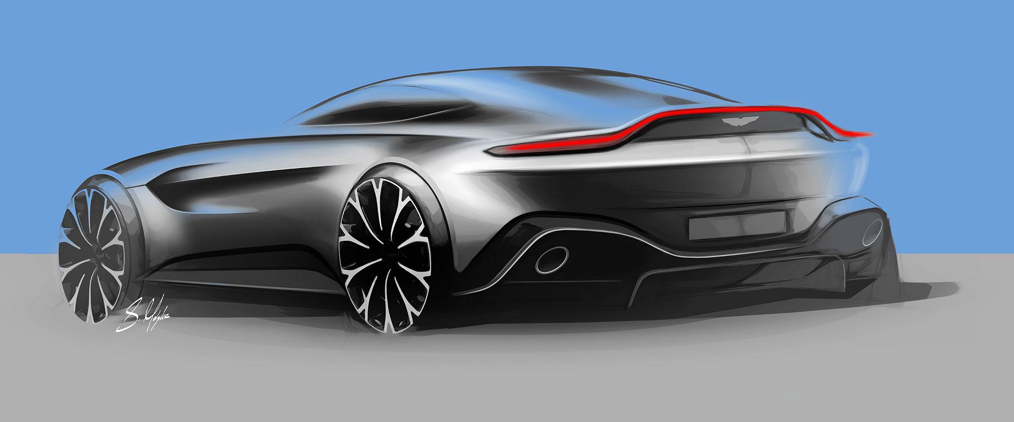 Aston Martin Vantage - 2018 - sketch