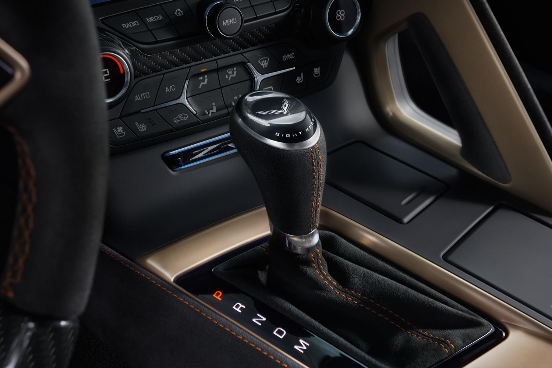 Chevrolet Corvette ZR1- 2019 - gear stick / levier de vitesse