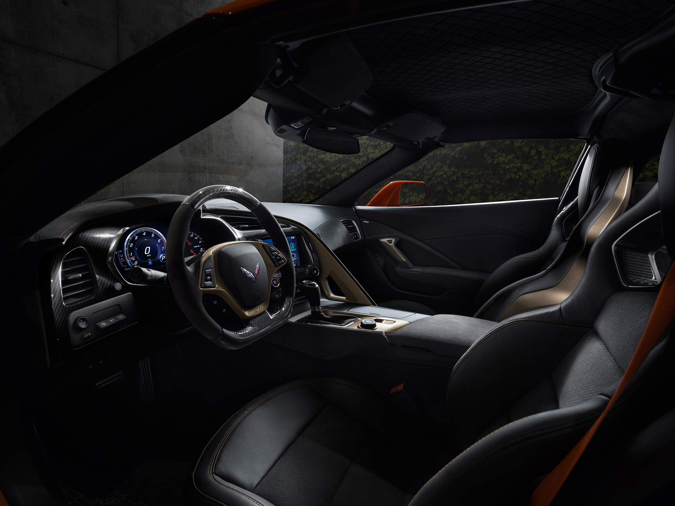 Chevrolet Corvette ZR1- 2019 - interior/ intérieur - Sebring Orange