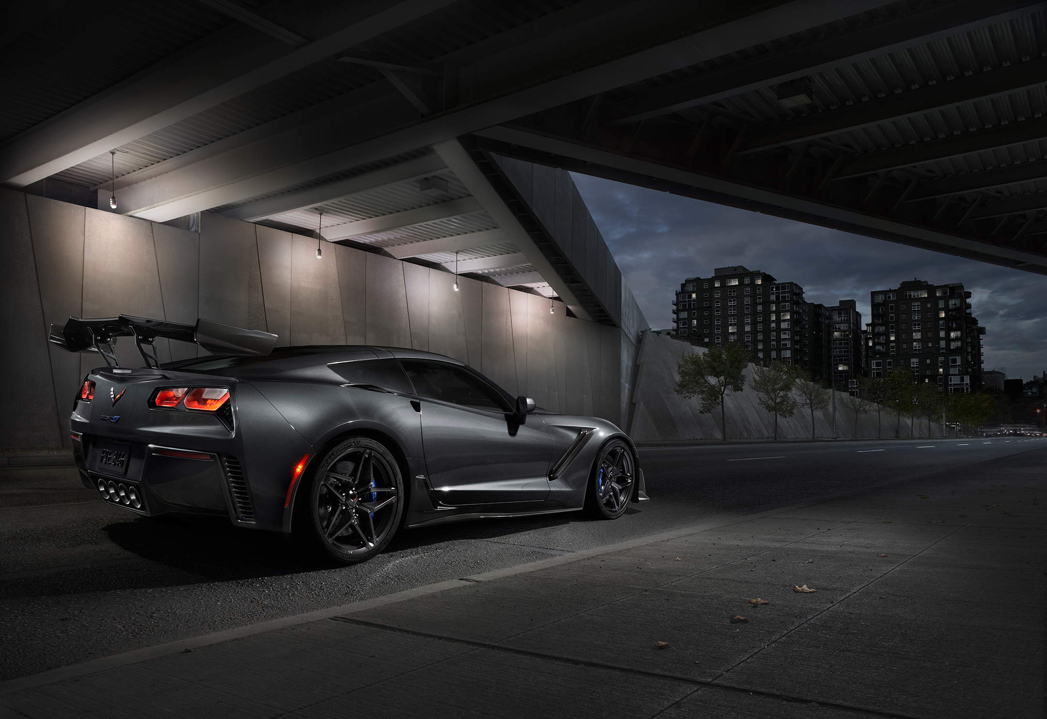 Chevrolet Corvette ZR1 - 2019 - rear side-face / profil arrière