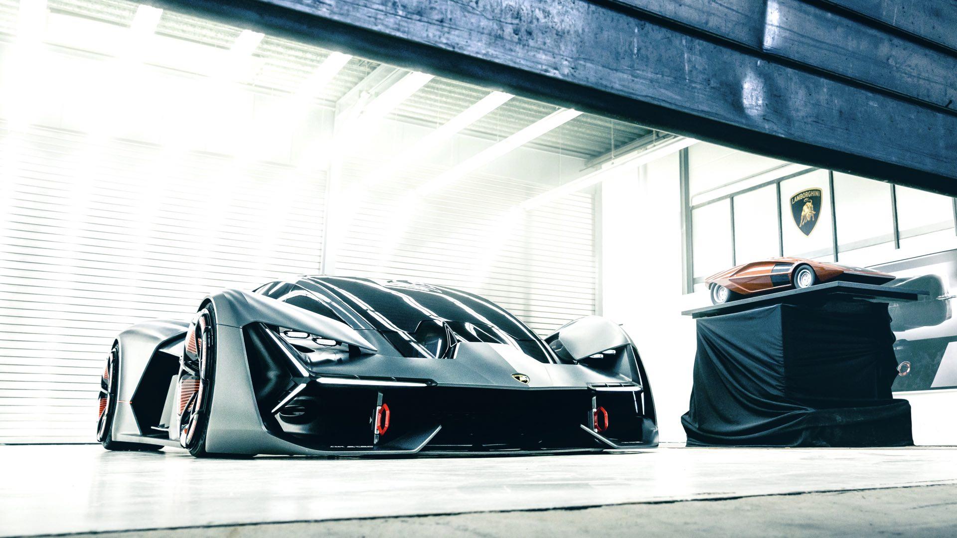 Lamborghini Terzo Millennio - 2017 - front side-face / profil avant