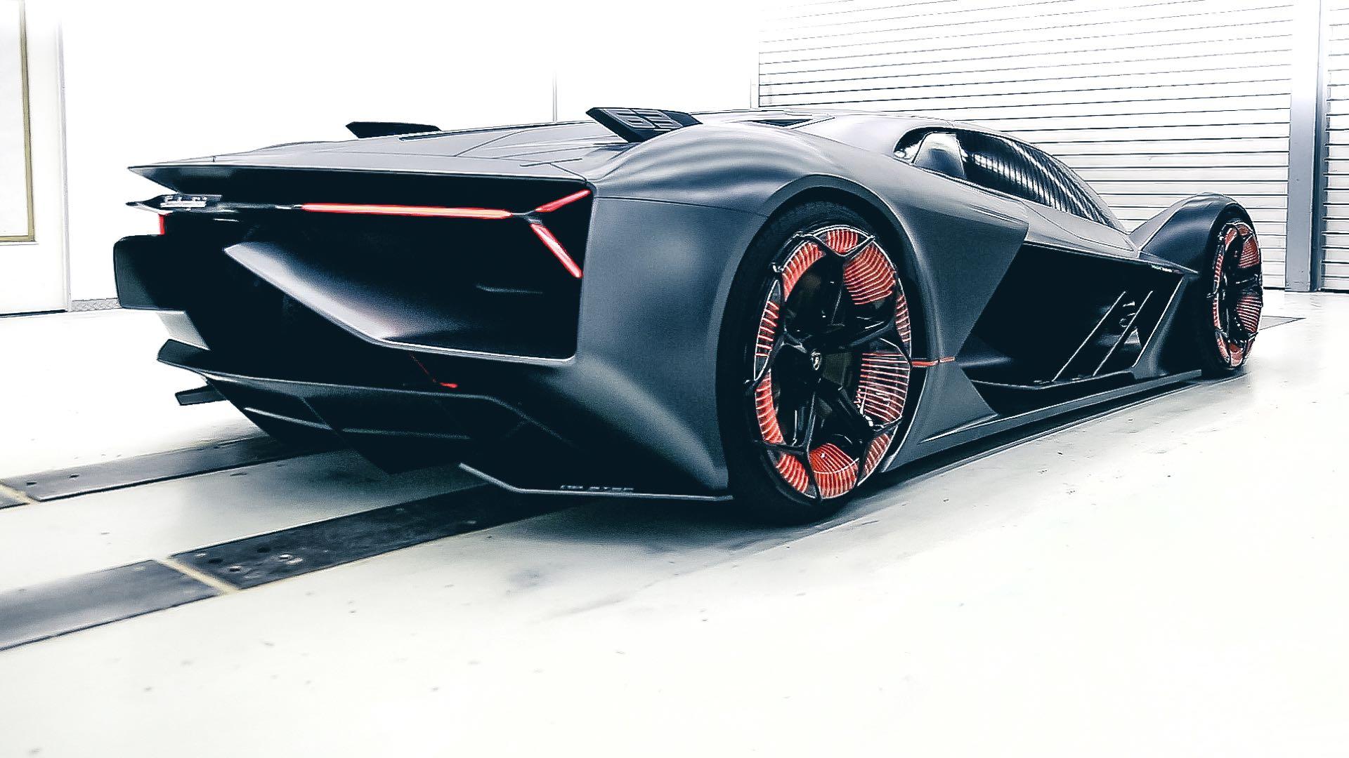 Lamborghini Terzo Millennio - 2017 - rear side-face / profil arrière