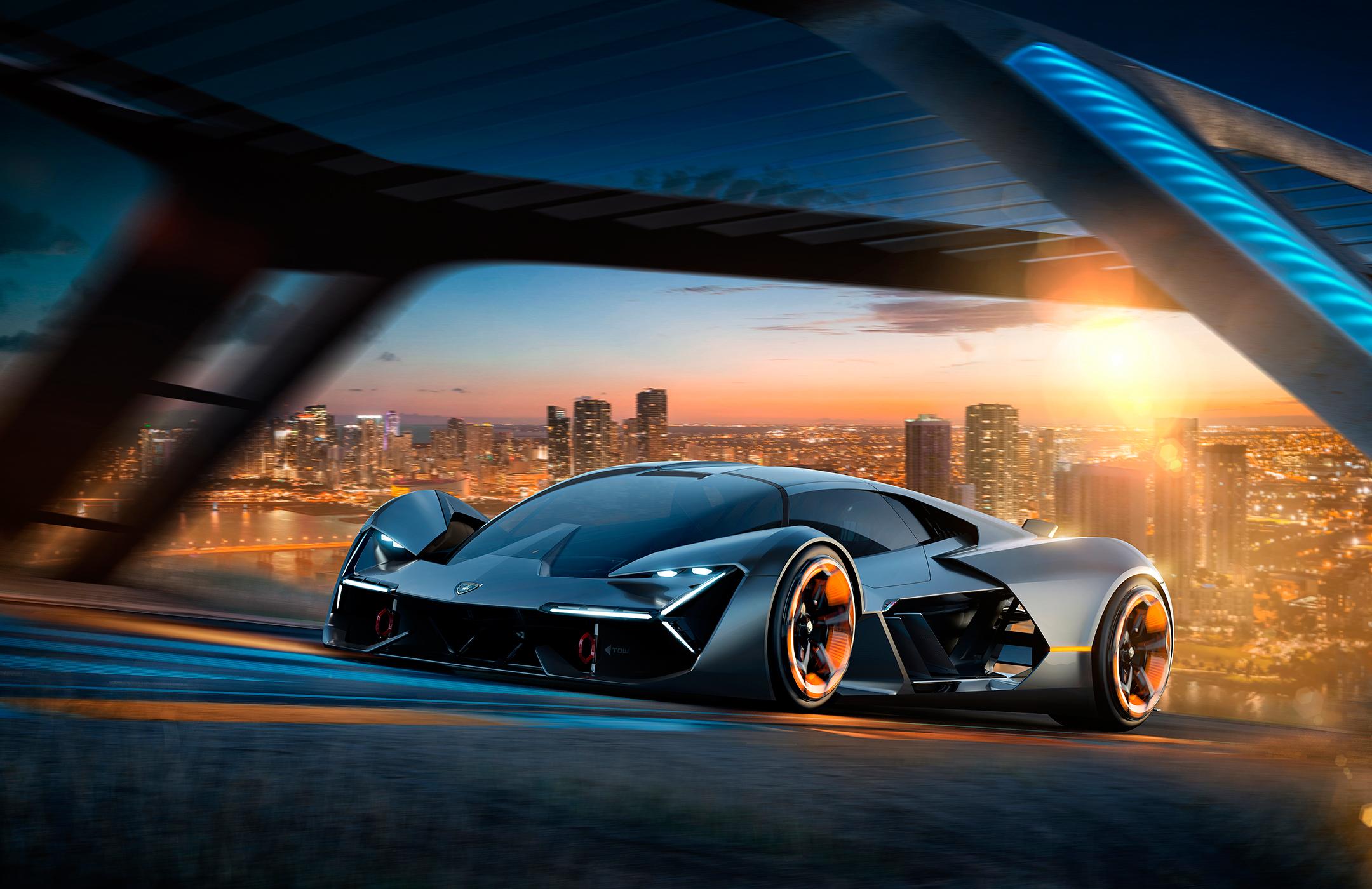 Lamborghini Terzo Millennio - 2017 - front road