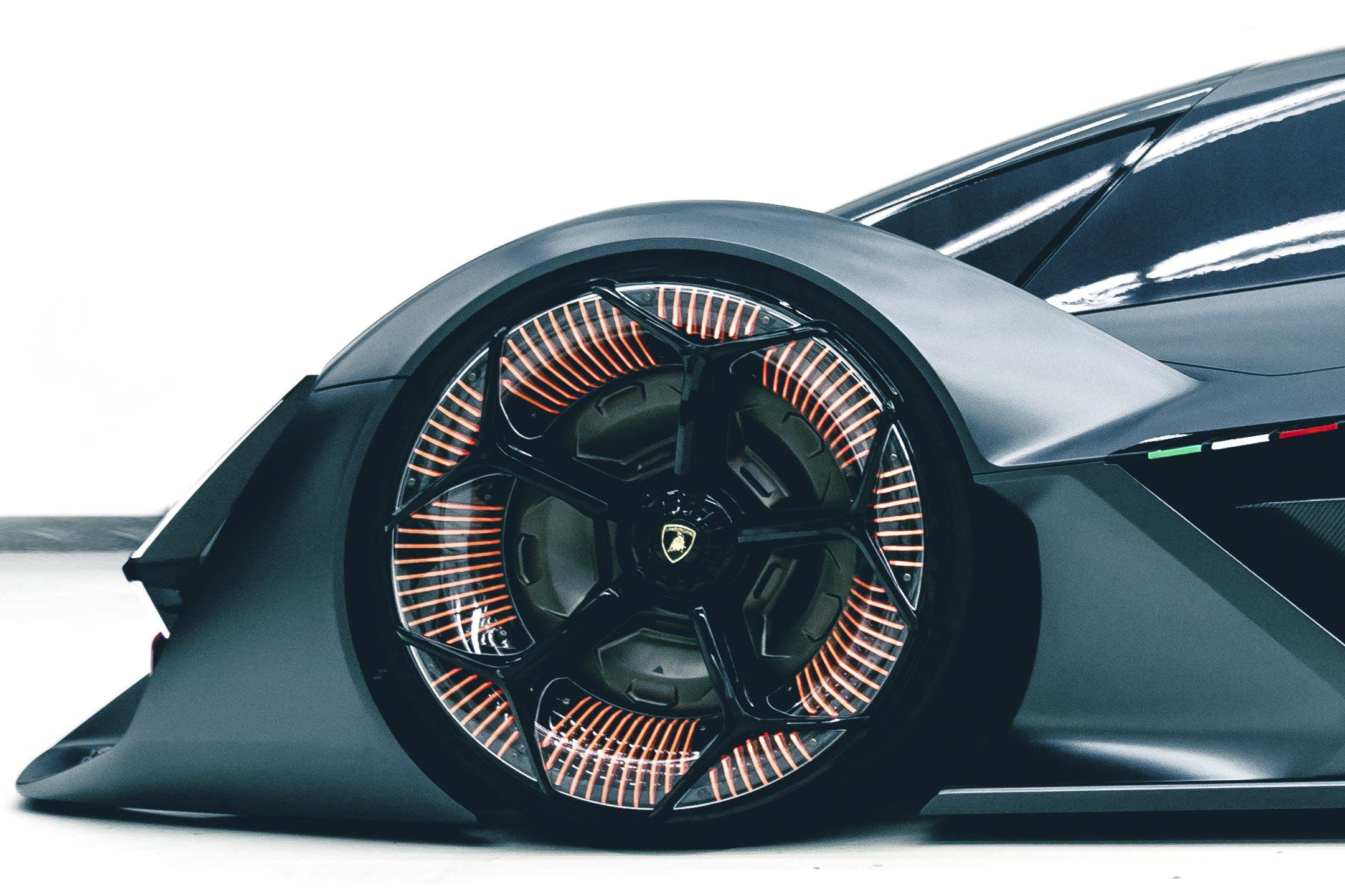 Lamborghini Terzo Millennio - 2017 - front wheel