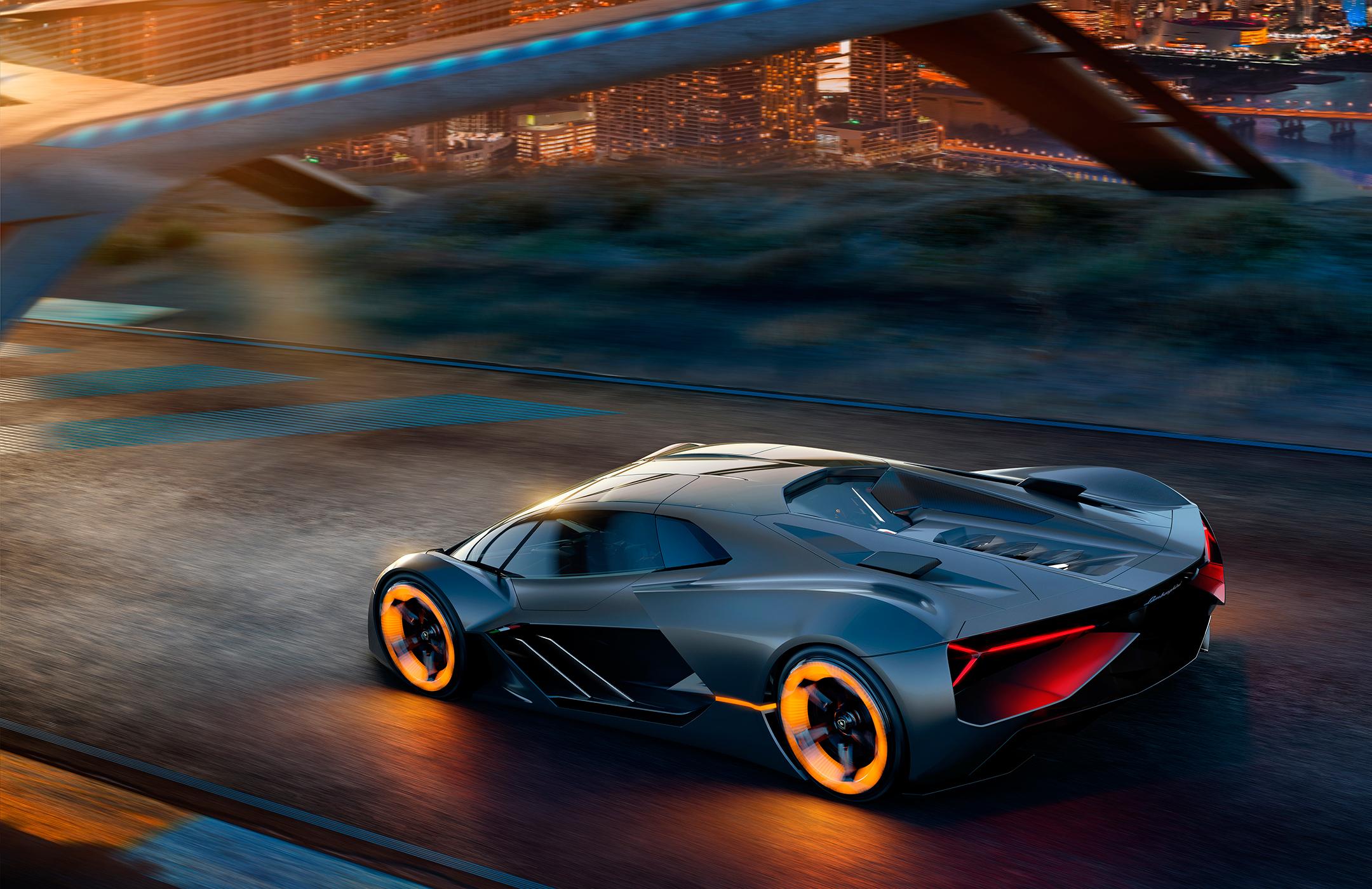 Lamborghini Terzo Millennio - 2017 - rear road