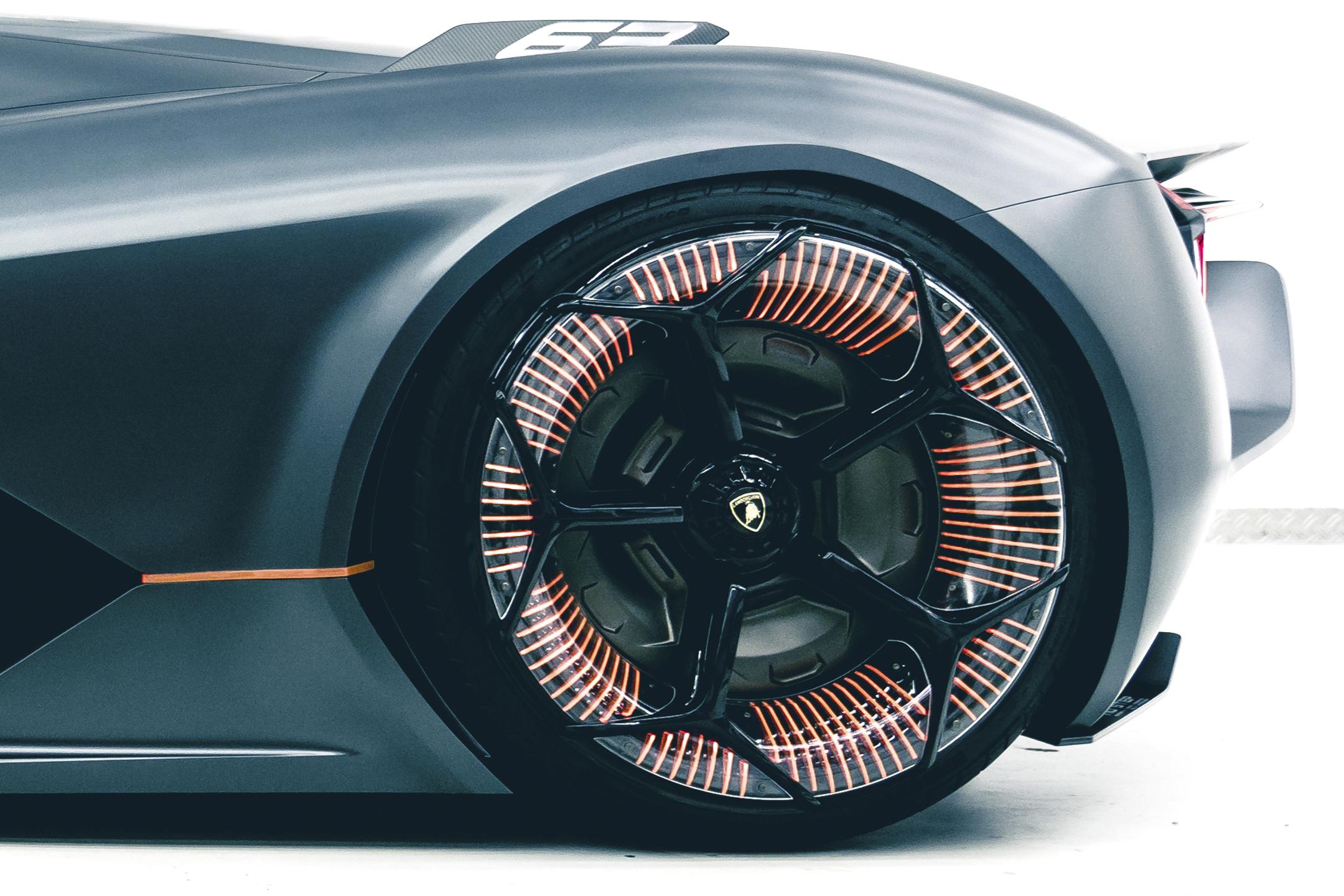 Lamborghini Terzo Millennio - 2017 - rear wheel