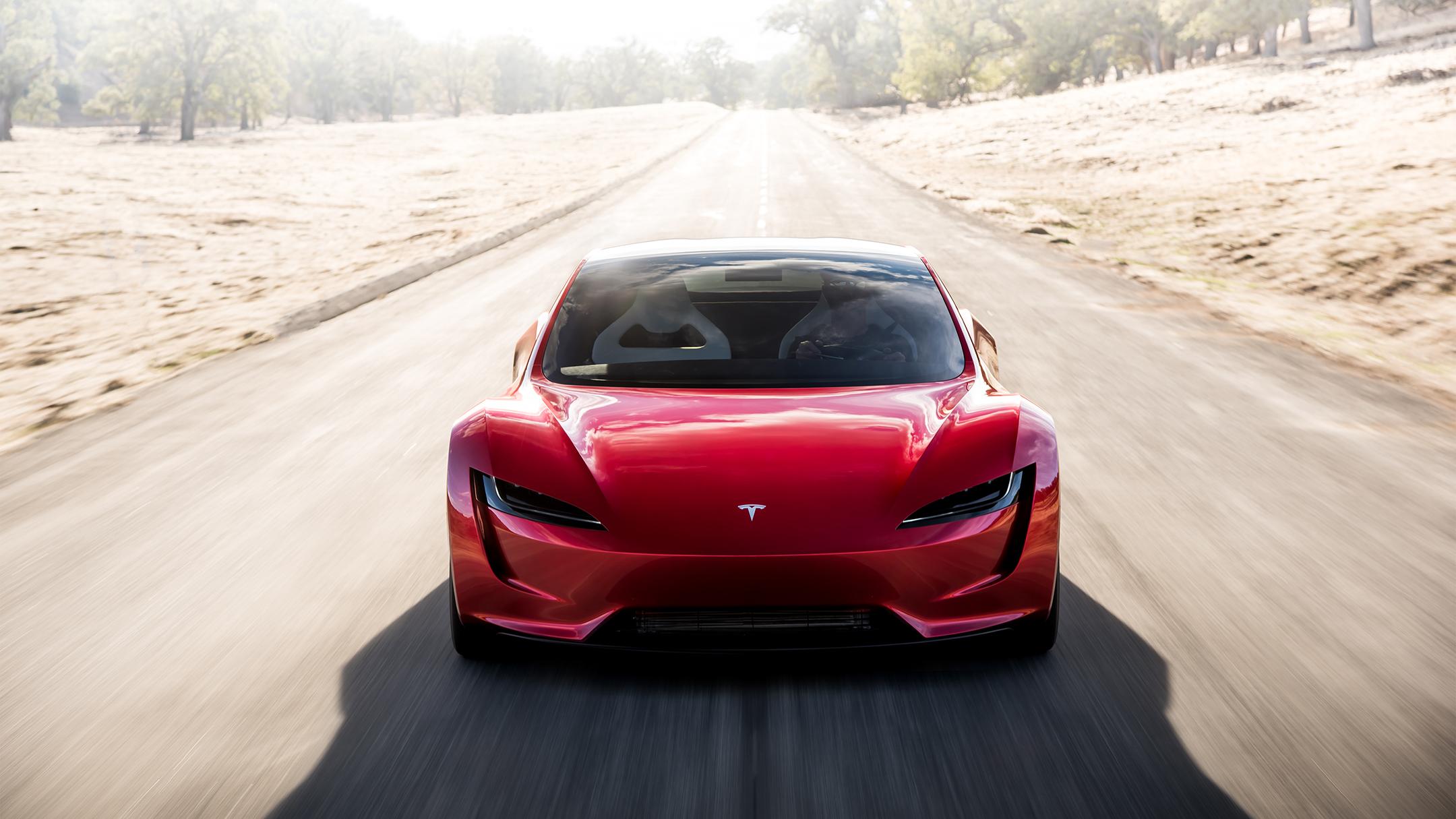 Tesla Roadster 2020 concept - 2017 - front face / face avant