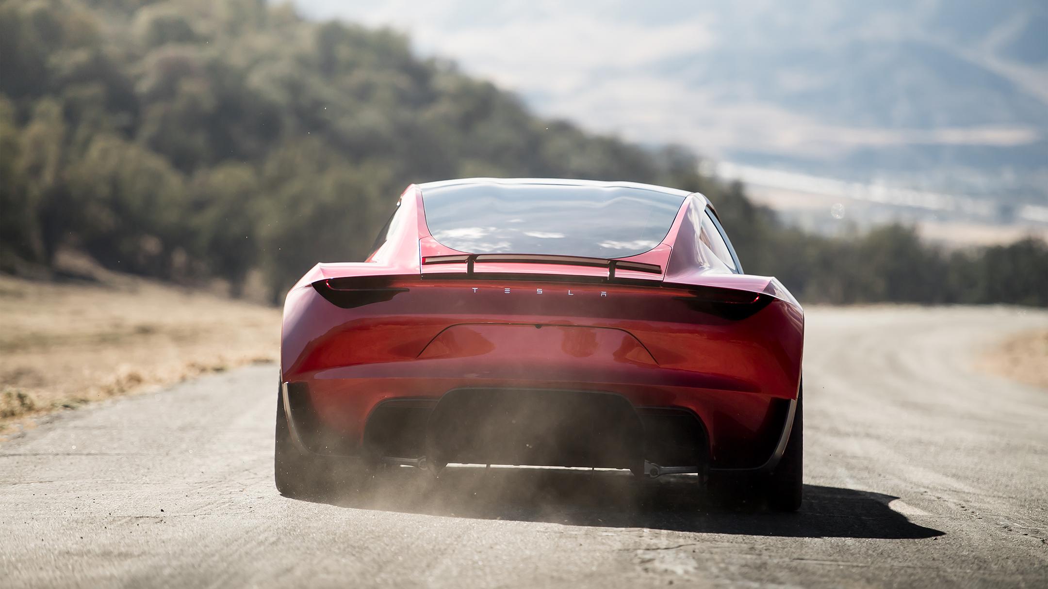Tesla Roadster 2020 concept - 2017 - rear face / face arrière