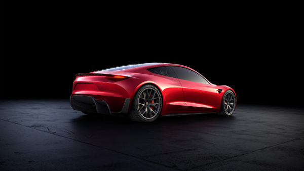 Tesla Roadster 2020 concept - 2017 - rear side-face / profil arrière