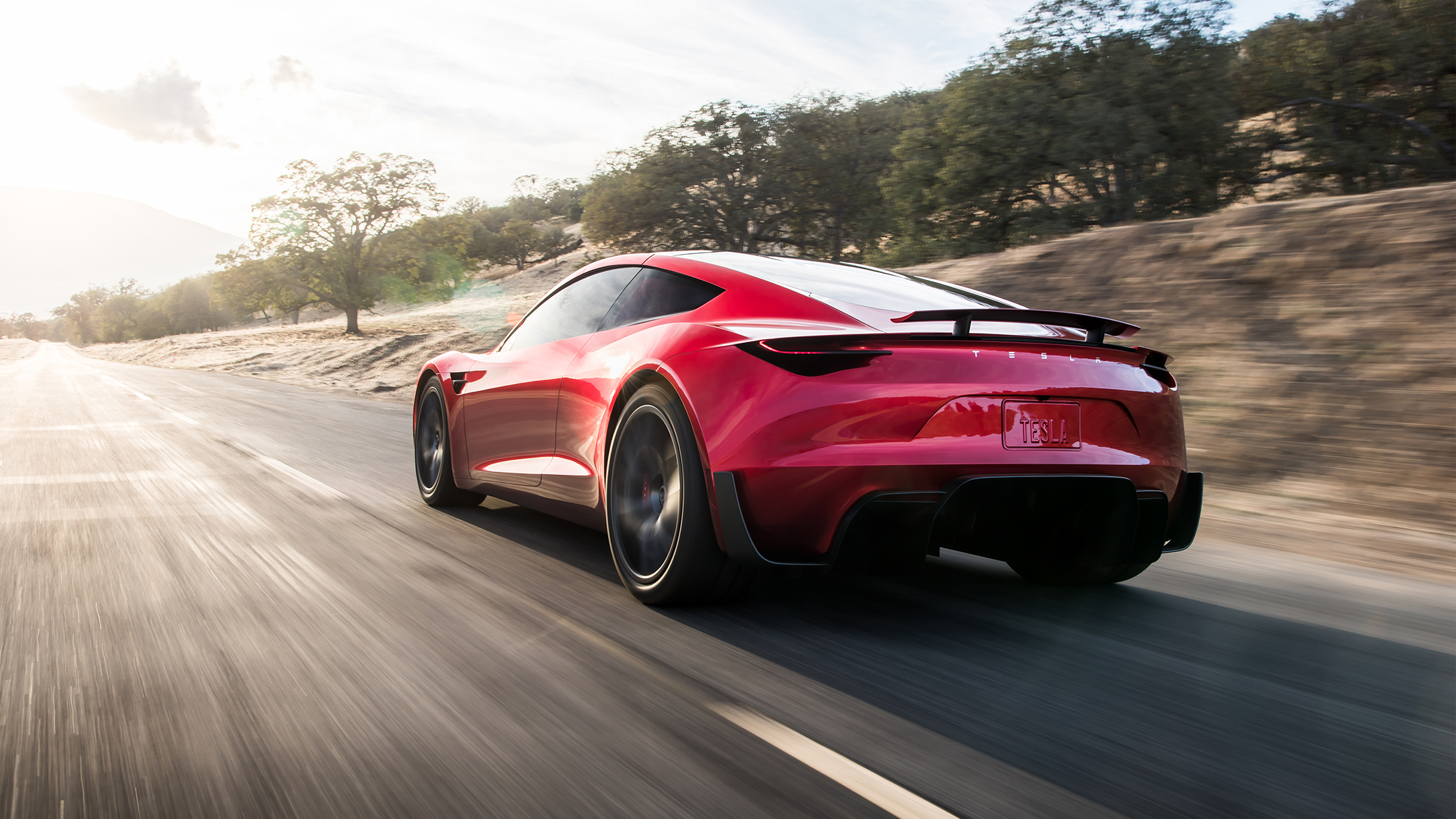 Tesla Roadster 2020 concept - 2017 - rear road