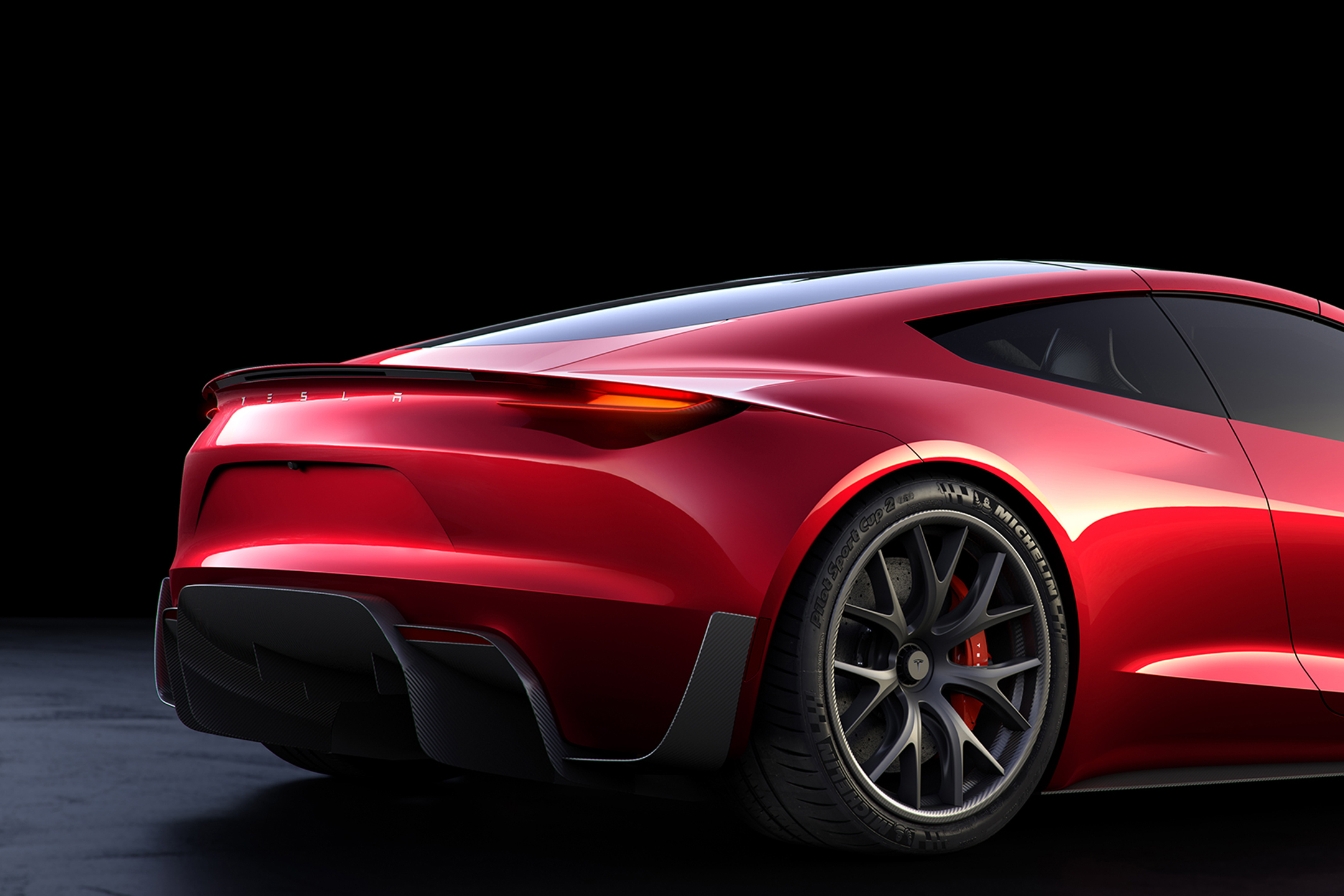 Tesla Roadster 2020 concept - 2017 - rear wheel - zoom