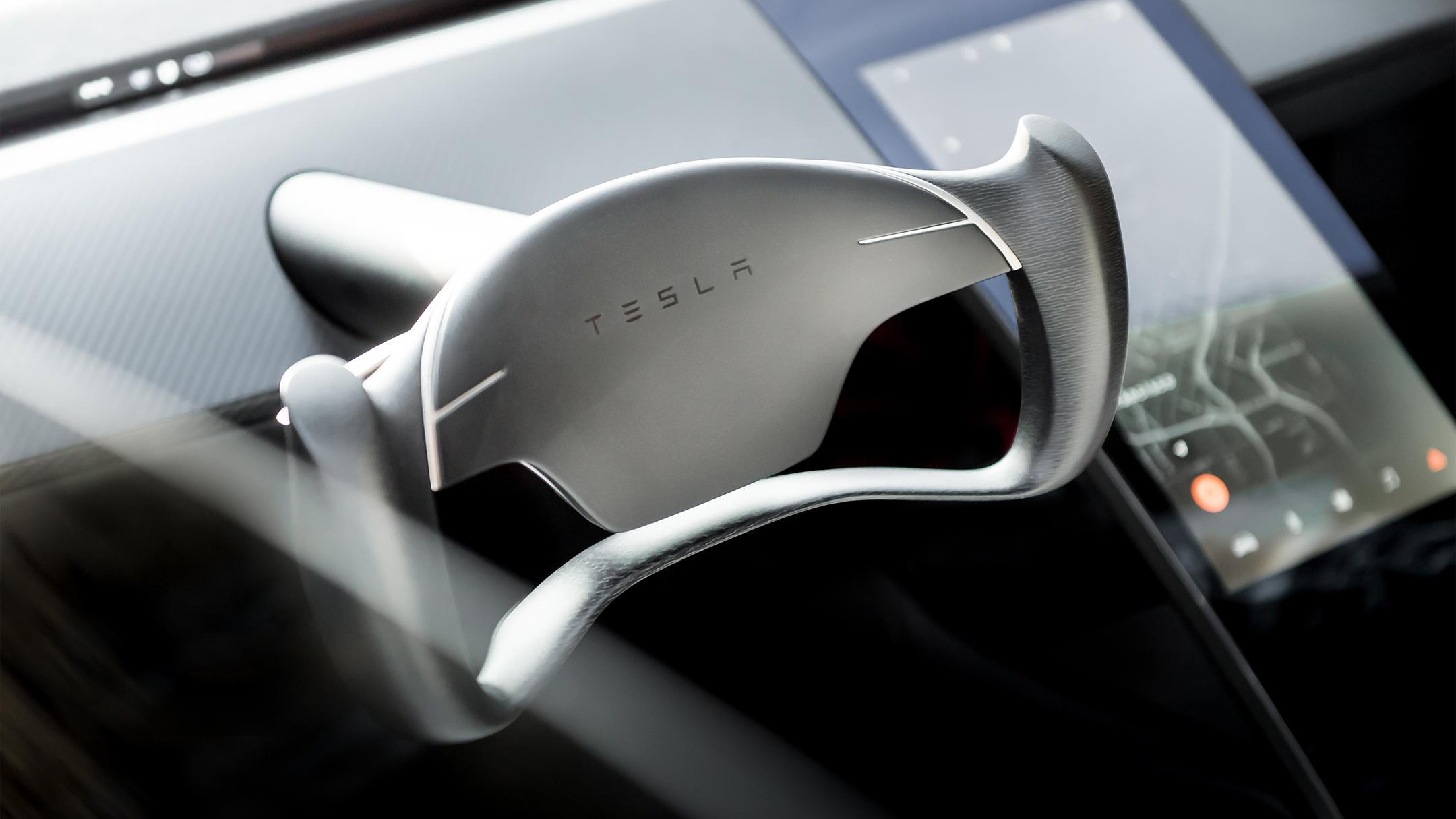 Tesla Roadster 2020 concept - 2017 - steerinng wheel / volant