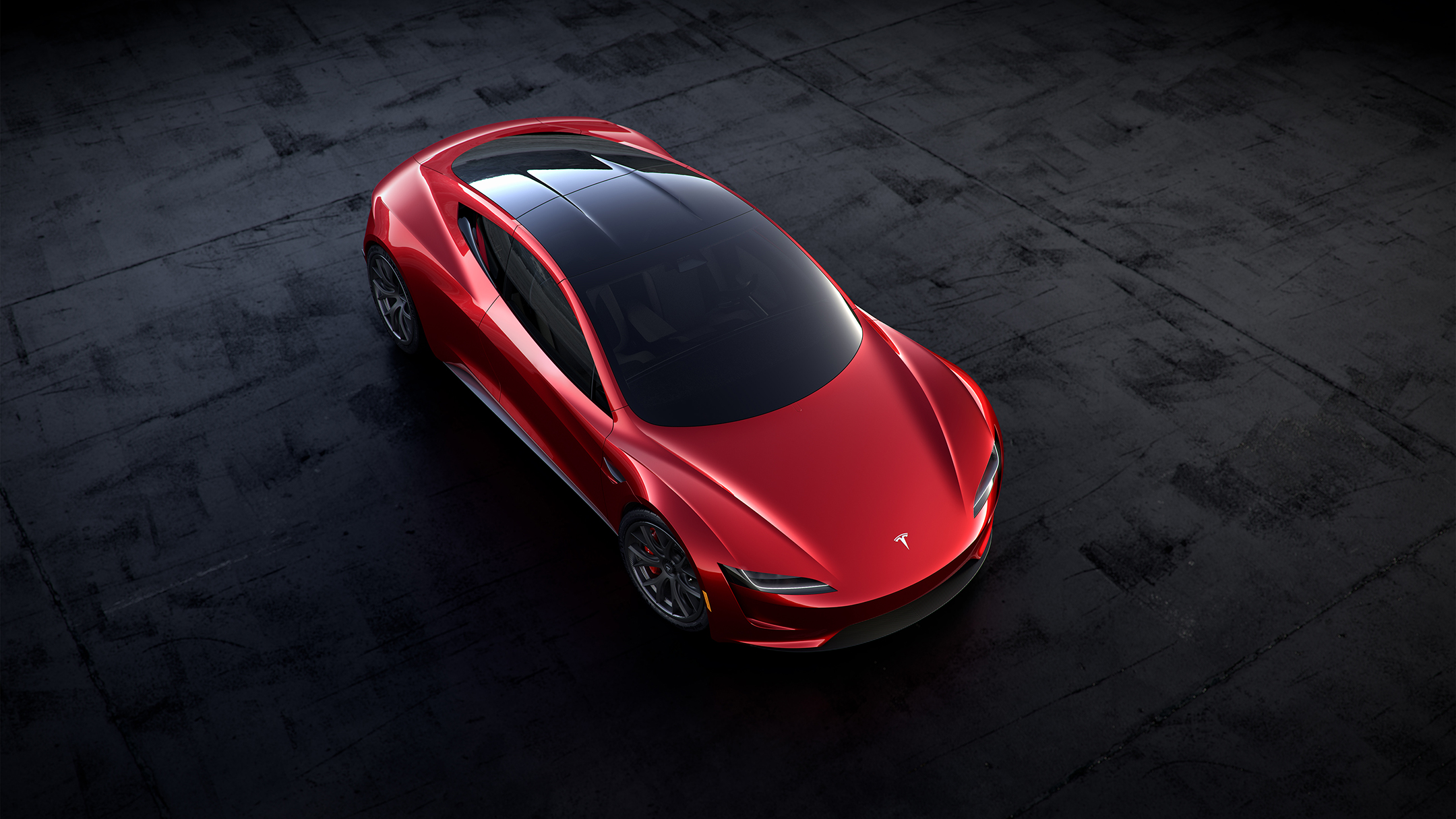 Tesla Roadster 2020 concept - 2017 - top view