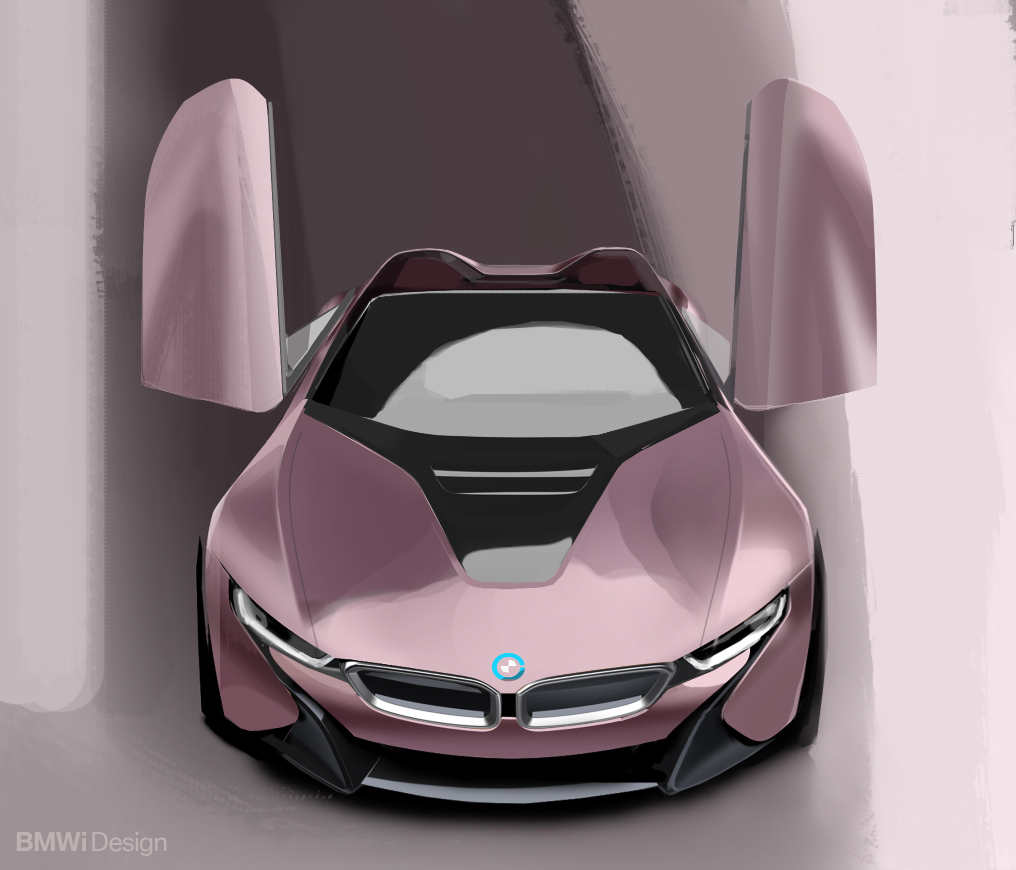 BMW i8 Roadster - 2017 - sketch design - front