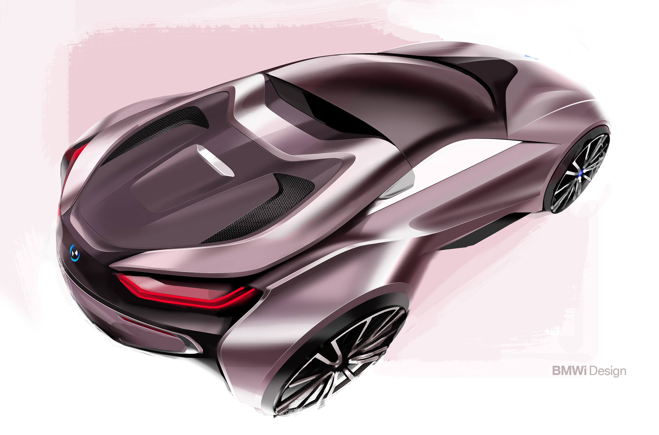 BMW i8 Roadster - 2017 - sketch design - rear