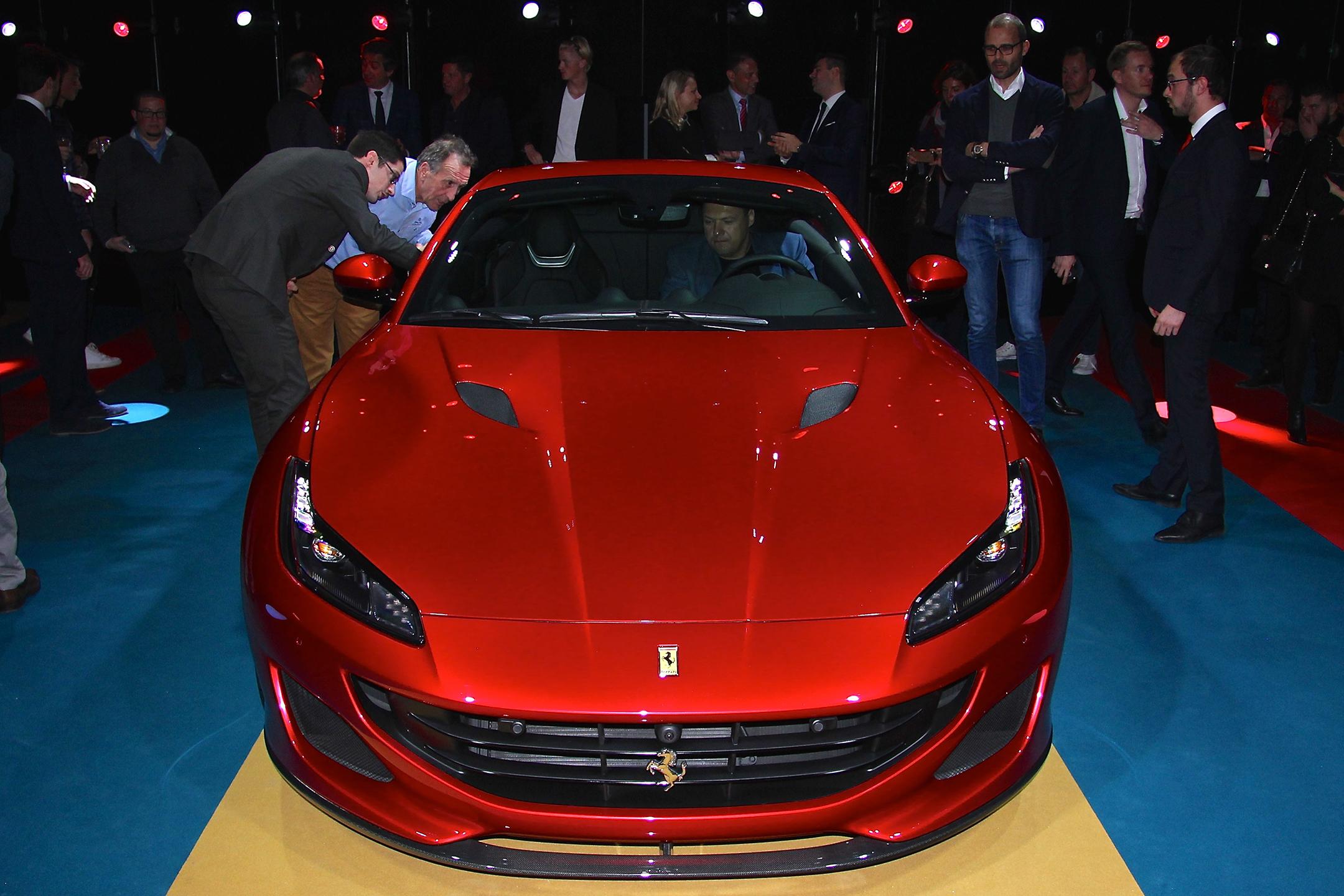 Ferrari Portofino - 2017 - top front / face avant - présentation Ferrari France - photo Ludo Ferrari