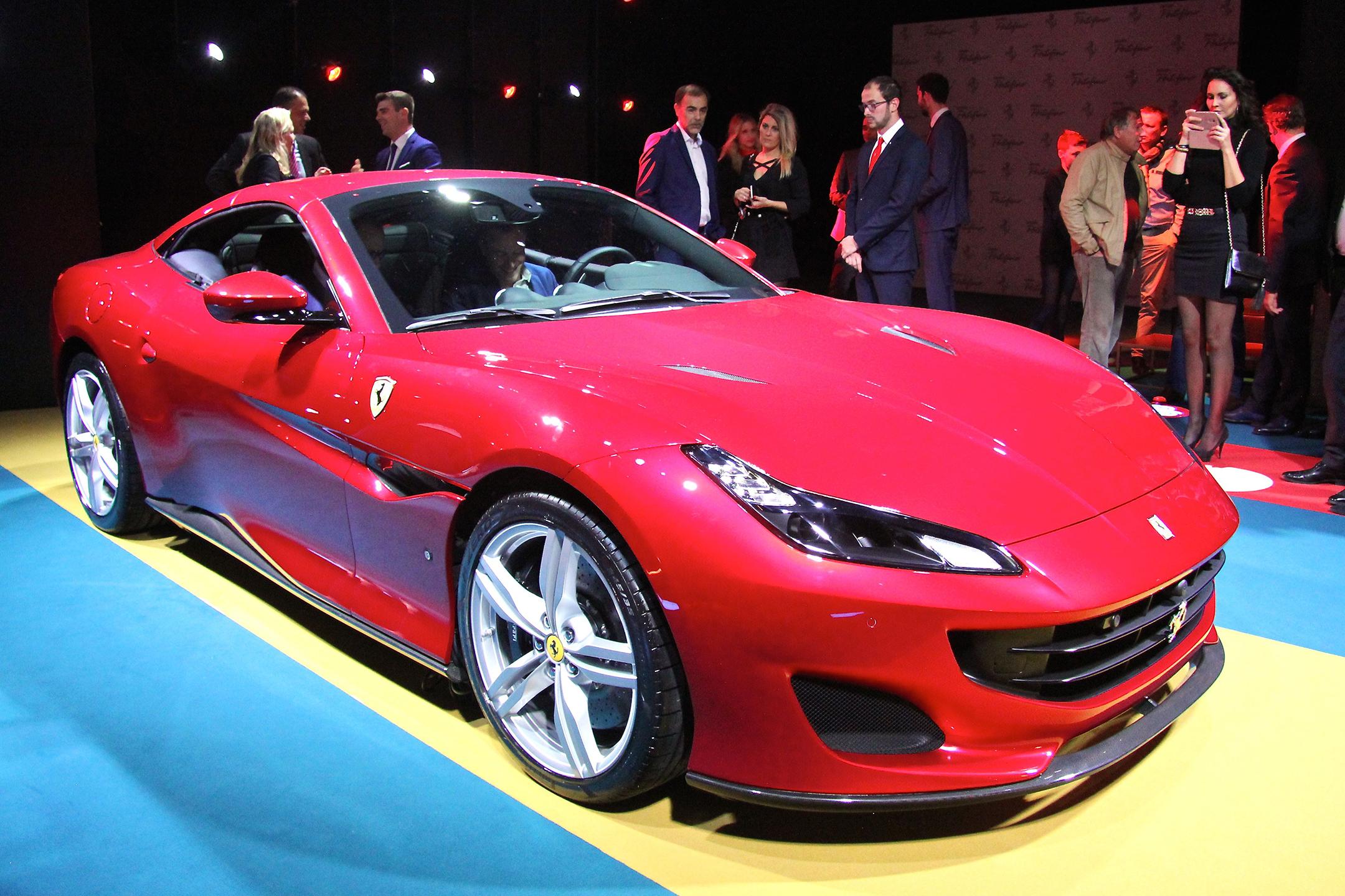 Ferrari Portofino - 2017 - front side-face / profil - présentation Ferrari France - photo Ludo Ferrari