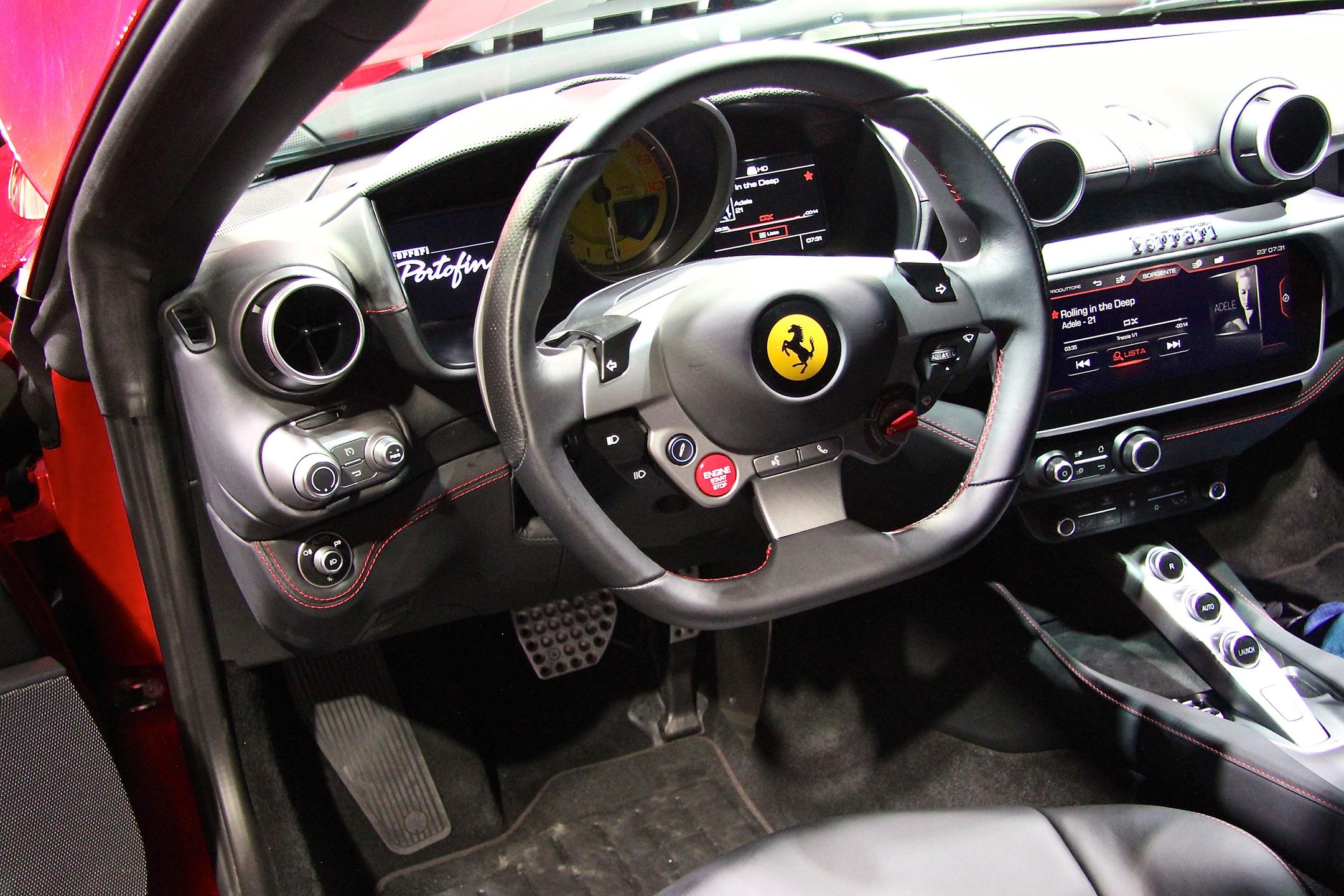 Ferrari Portofino - 2017 - interior / intérieur - présentation Ferrari France - photo Ludo Ferrari