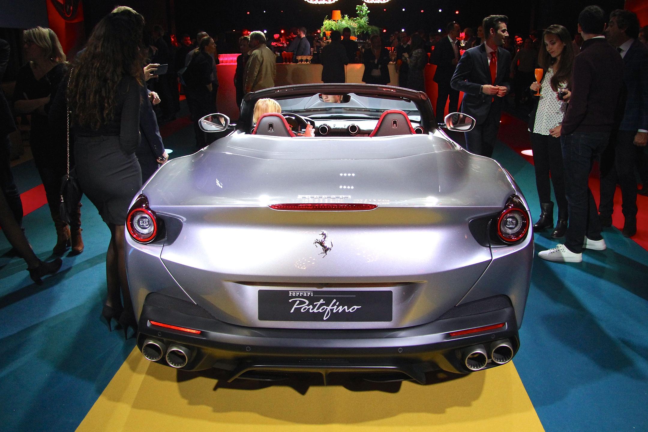 Ferrari Portofino - 2017 - rear / arrière - open top - présentation Ferrari France - photo Ludo Ferrari
