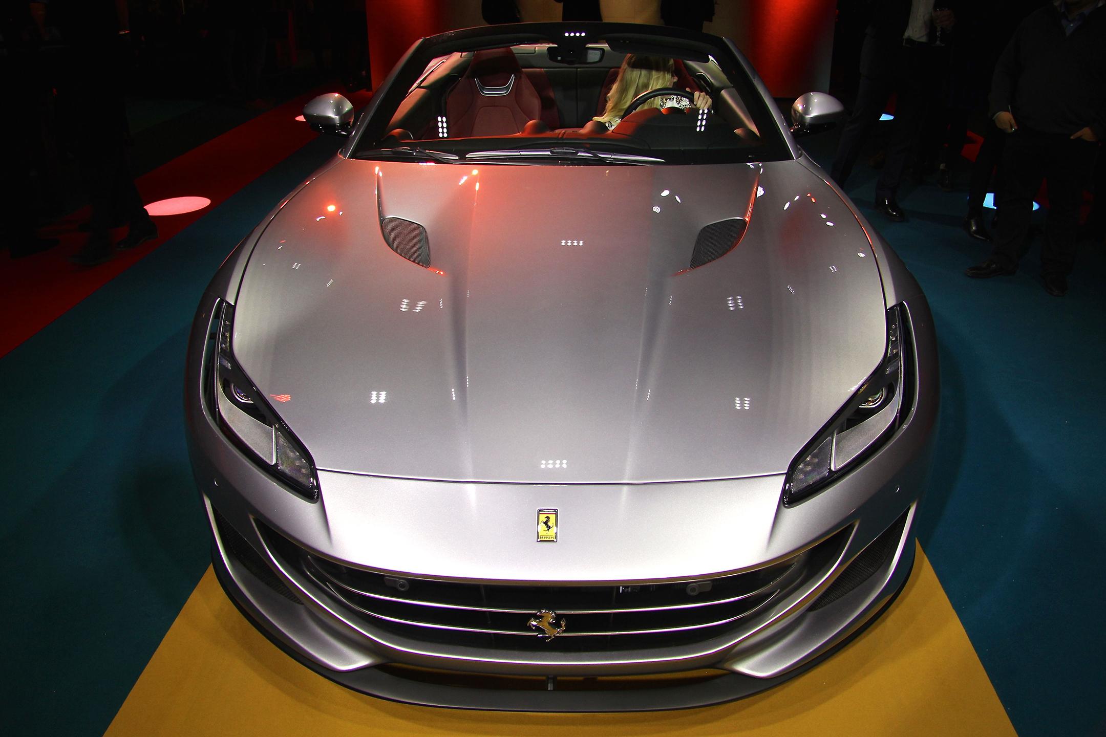 Ferrari Portofino - 2017 - top front / face avant - open top - présentation Ferrari France - photo Ludo Ferrari