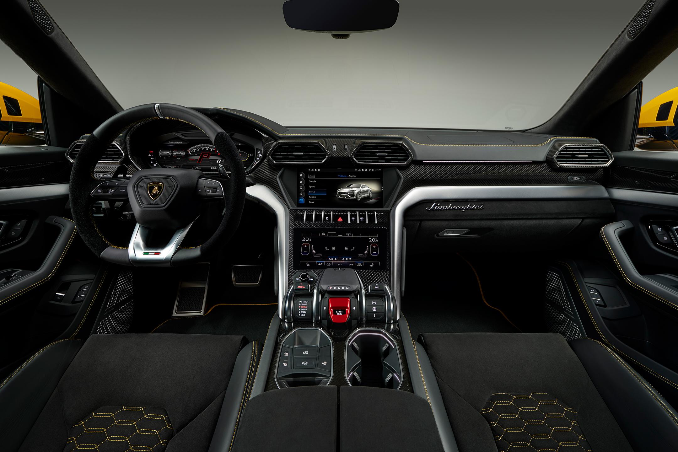 Lamborghini Urus - 2018 - interior / intérieur