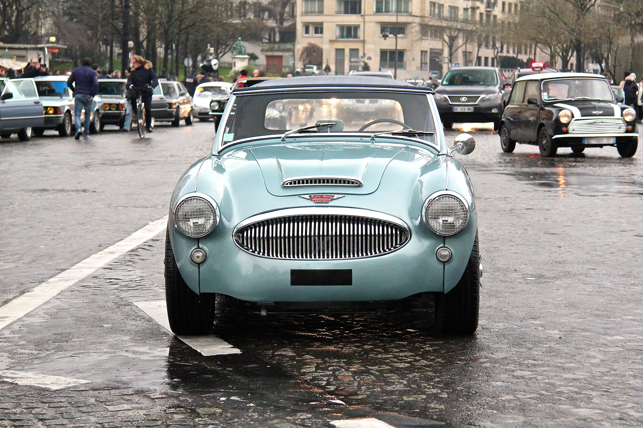 Austin Healey 3000 - Traversée de Paris Hivernale 2018 - photo Ludo Ferrari