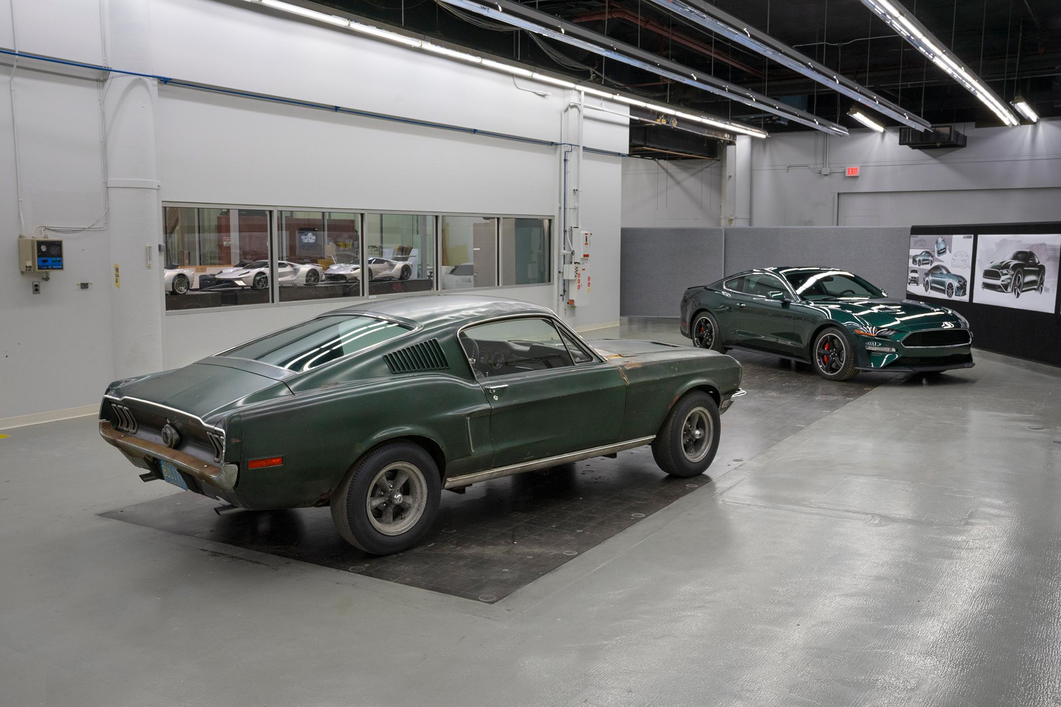 Ford Mustang GT Fastback Bullitt - 1968 - Ford Mustang Bullitt - 2018  heritage