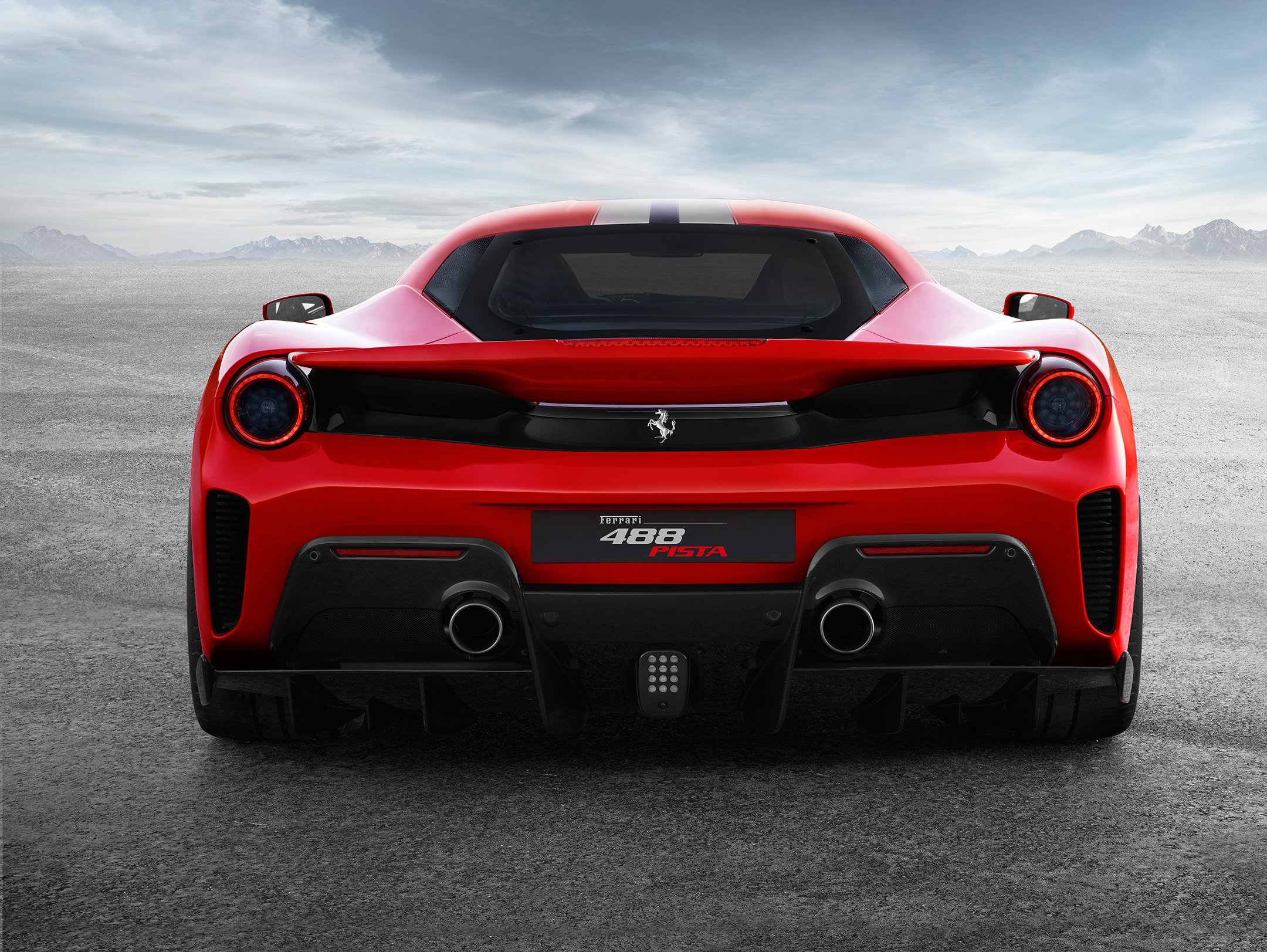 Ferrari 488 Pista - 2018 - rear face