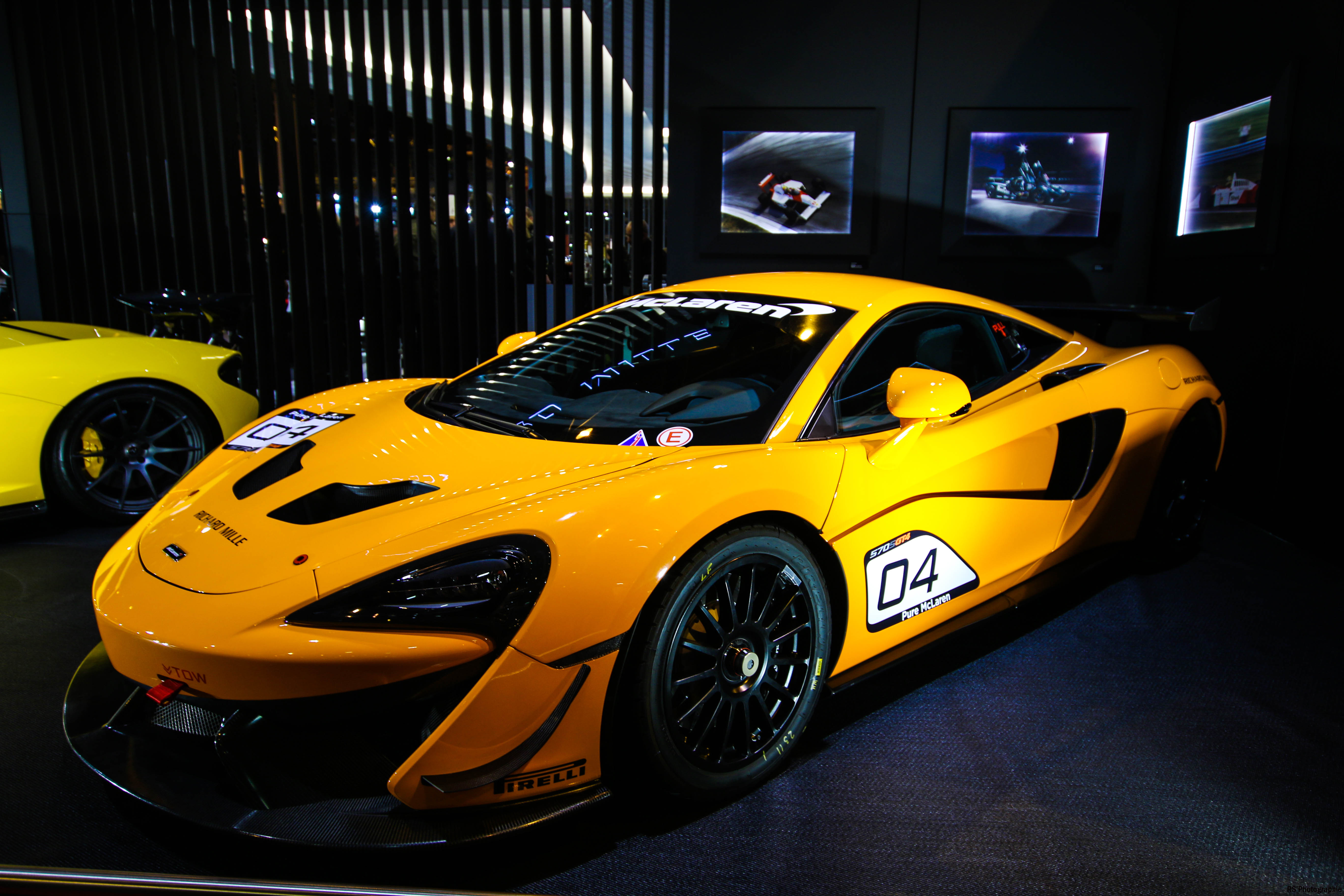 McLaren 570S GT4 - 2018 - stand Richard Mille - Retromobile 2018 - photo by Arnaud Demasier RS Photographie