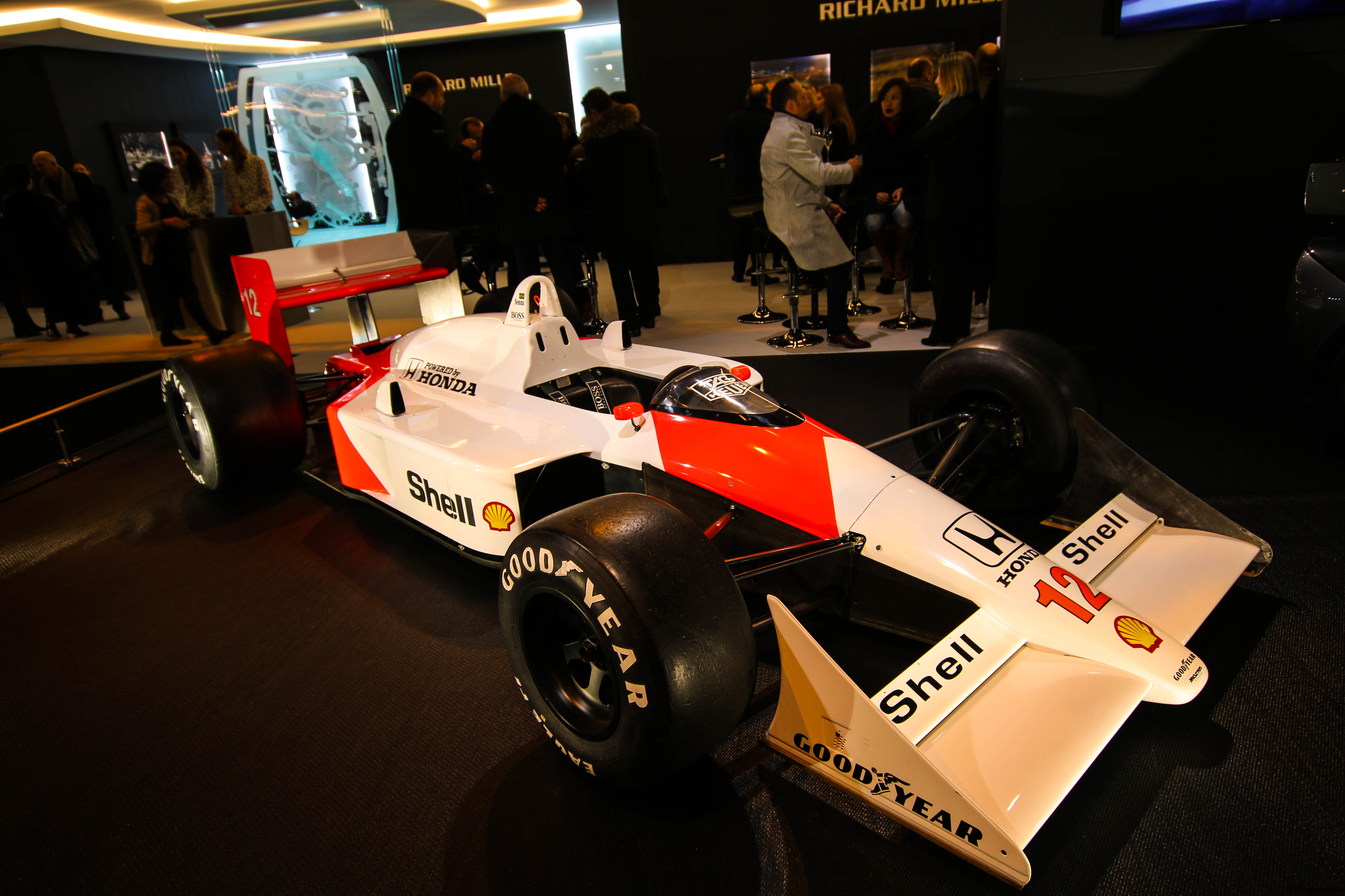 McLaren MP4/4 - F1 1988 - stand Richard Mille - Retromobile 2018 - photo by Arnaud Demasier RS Photographie