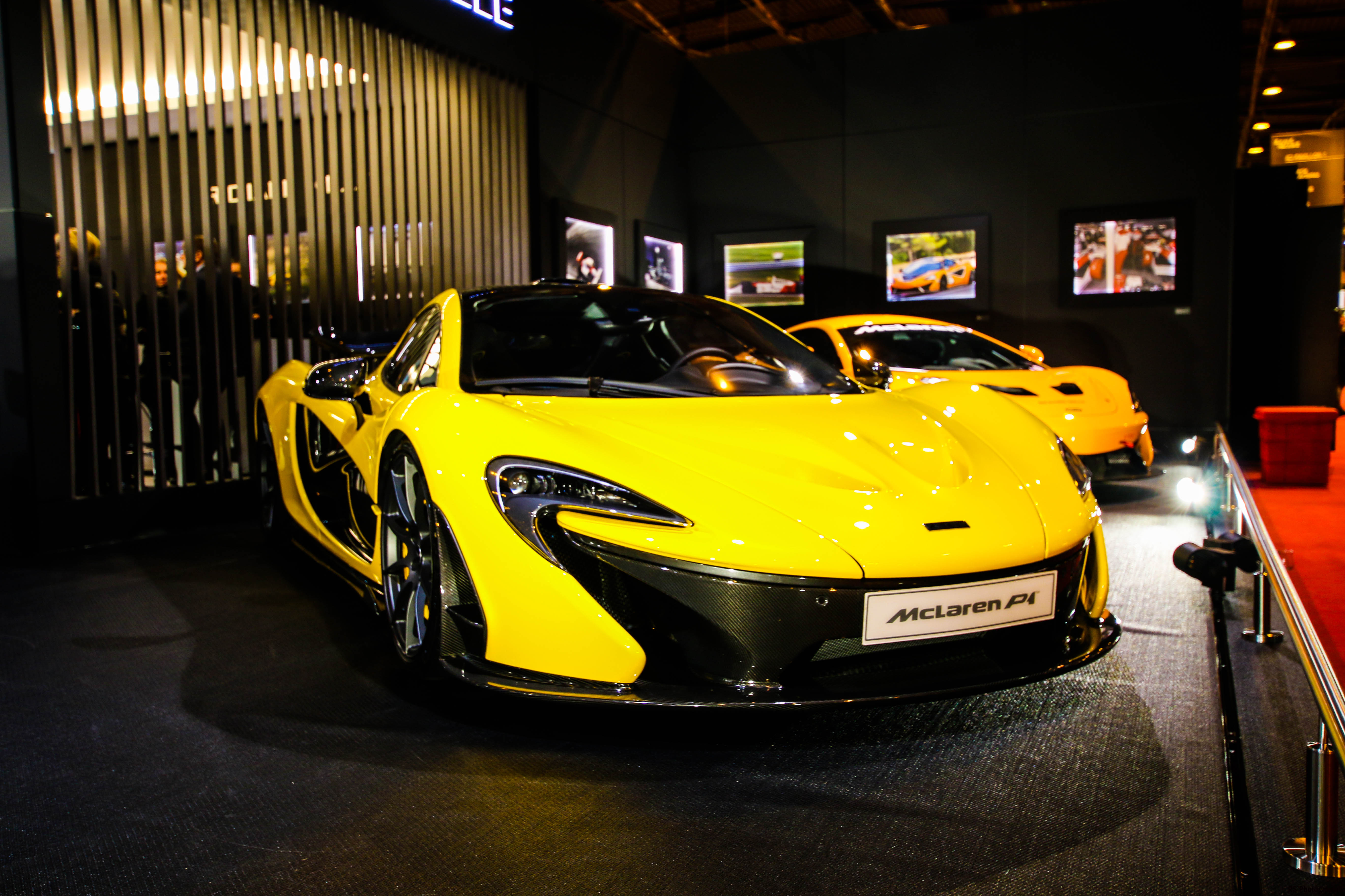 McLaren P1 - front light - 2013 - stand Richard Mille - Retromobile 2018 - photo by Arnaud Demasier RS Photographie