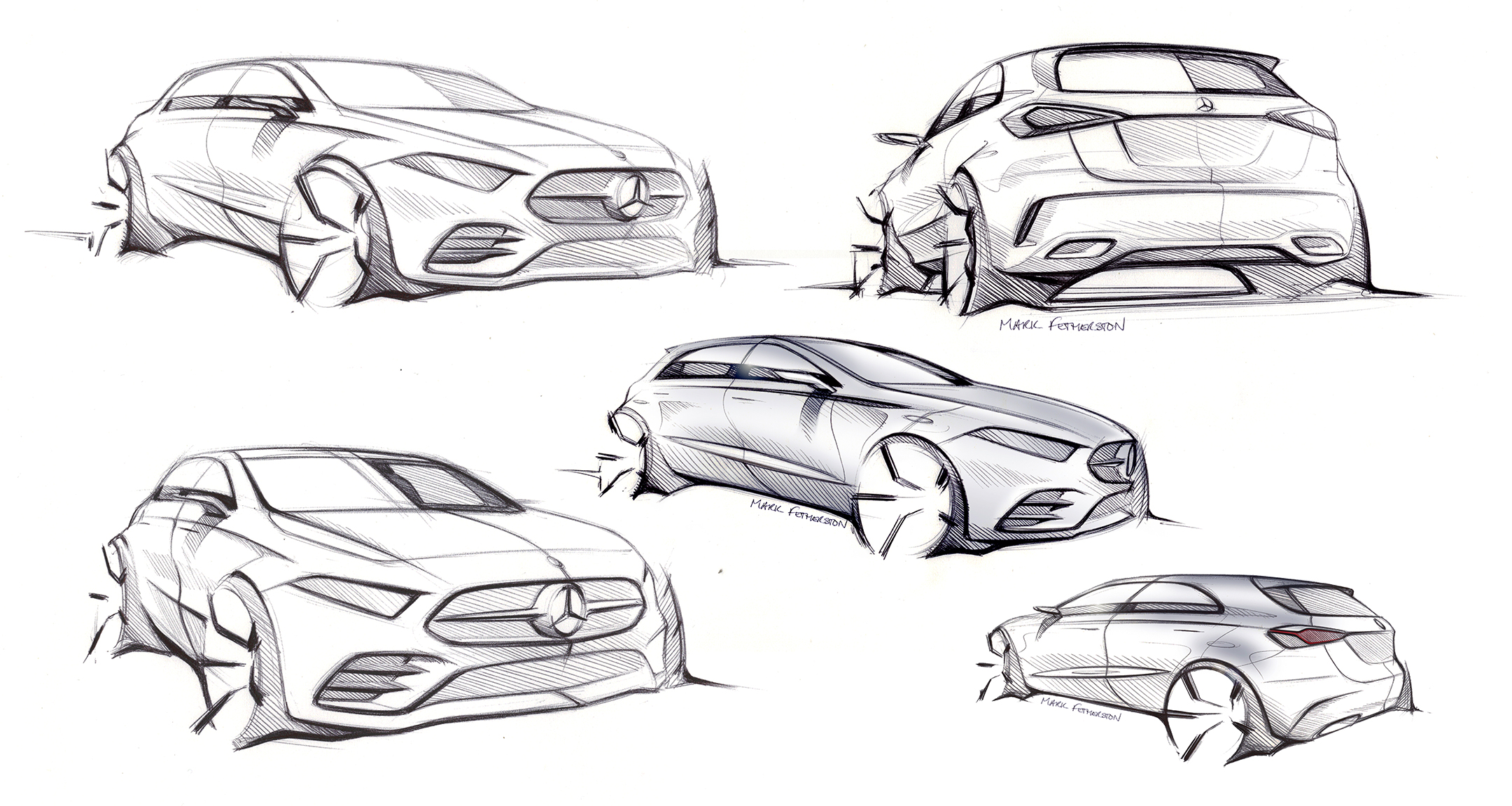 Mercedes-Benz A-Class - 2018 - sketch design