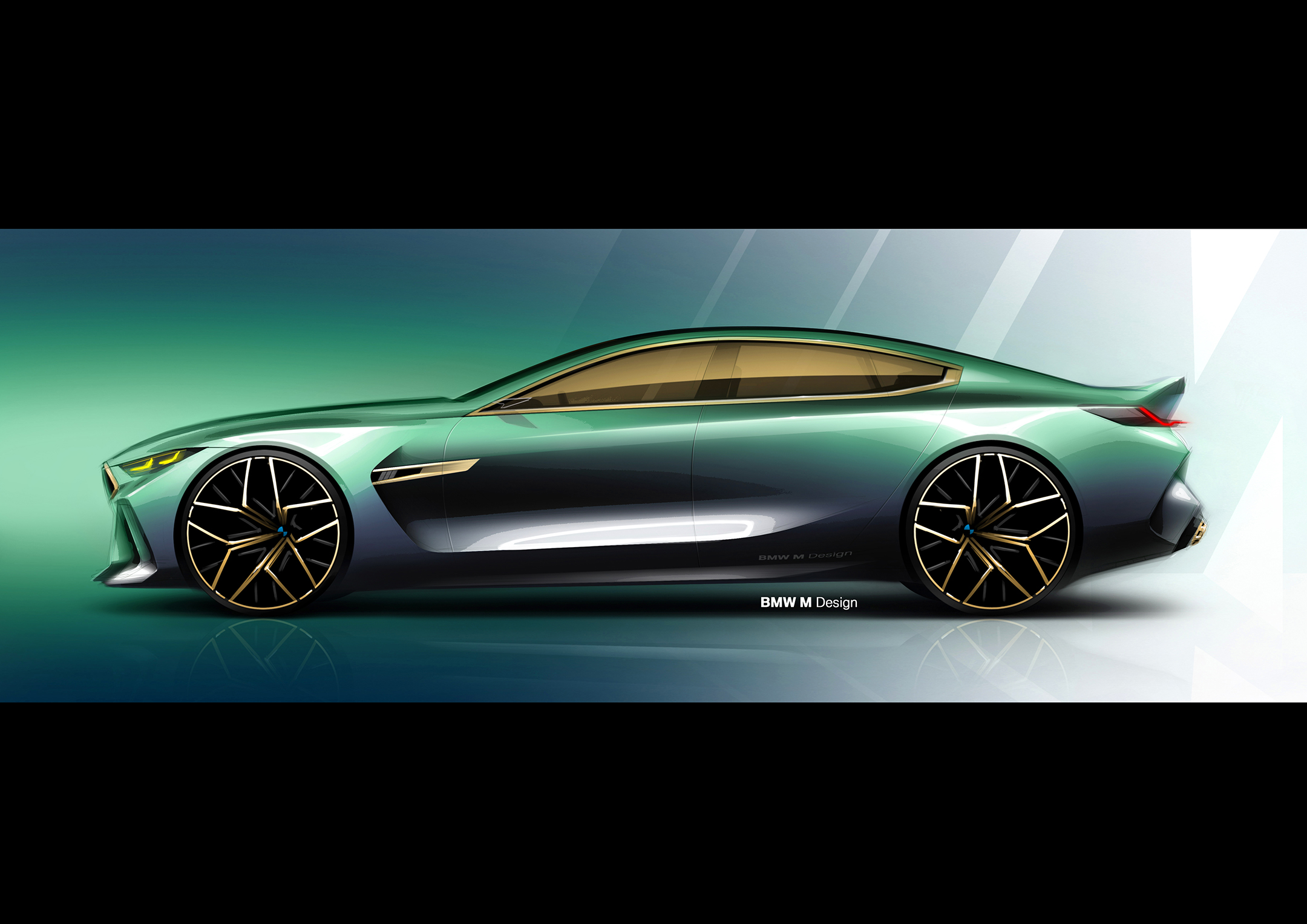 BMW Concept M8 Gran-Coupe - 2018 - sketch - side-face