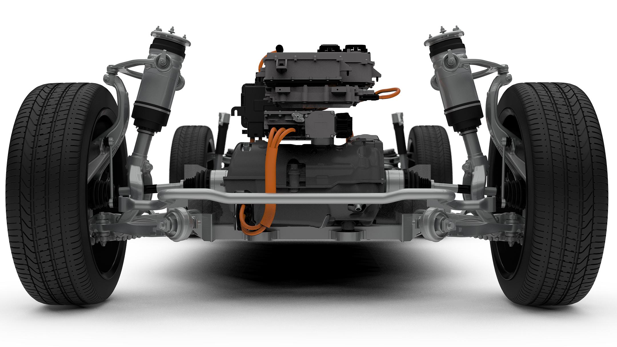 Jaguar I-PACE - 2018 - electro mecanichal powertrain - front wheels