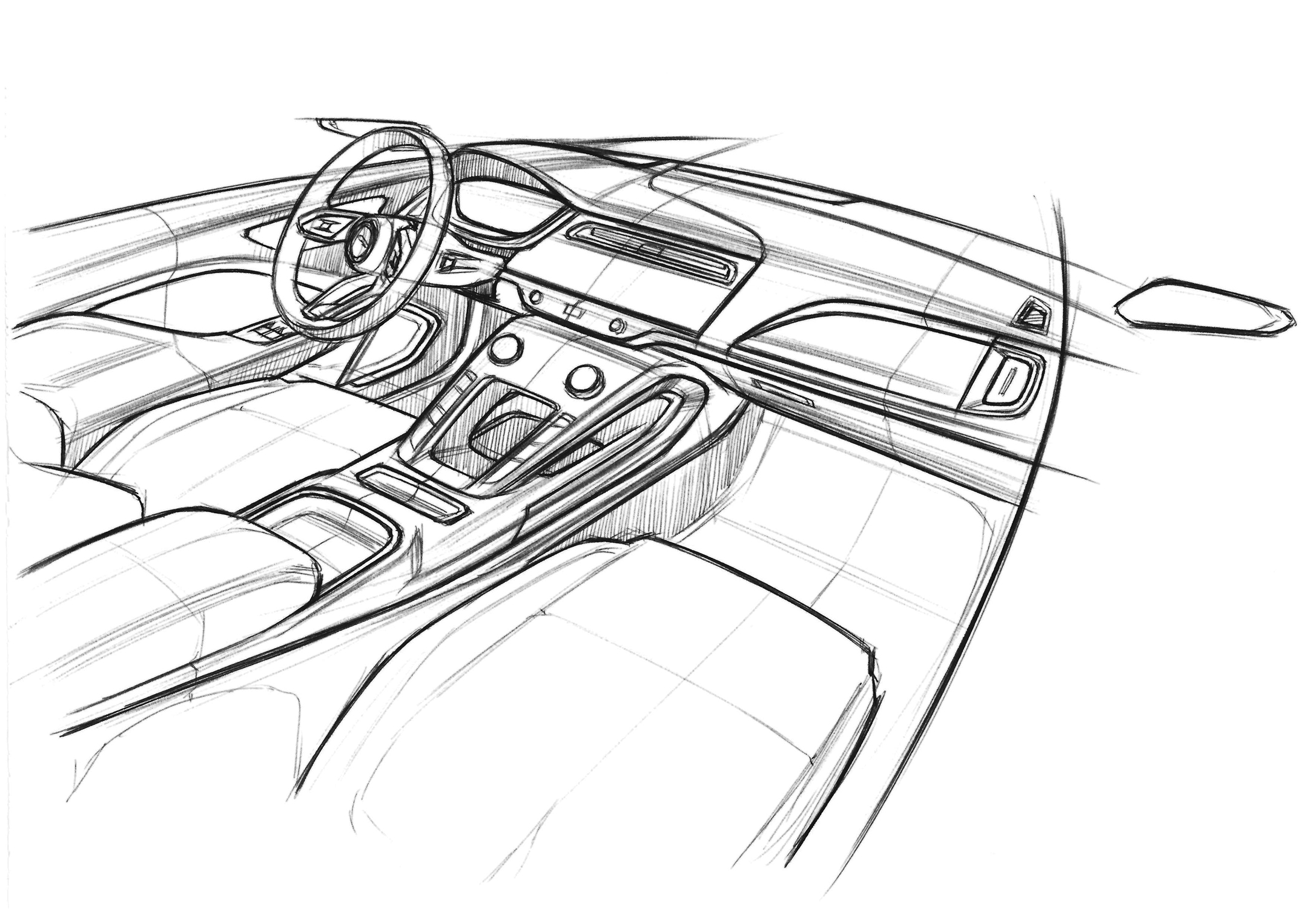 Jaguar I-PACE - 2018 - sketch dashboard