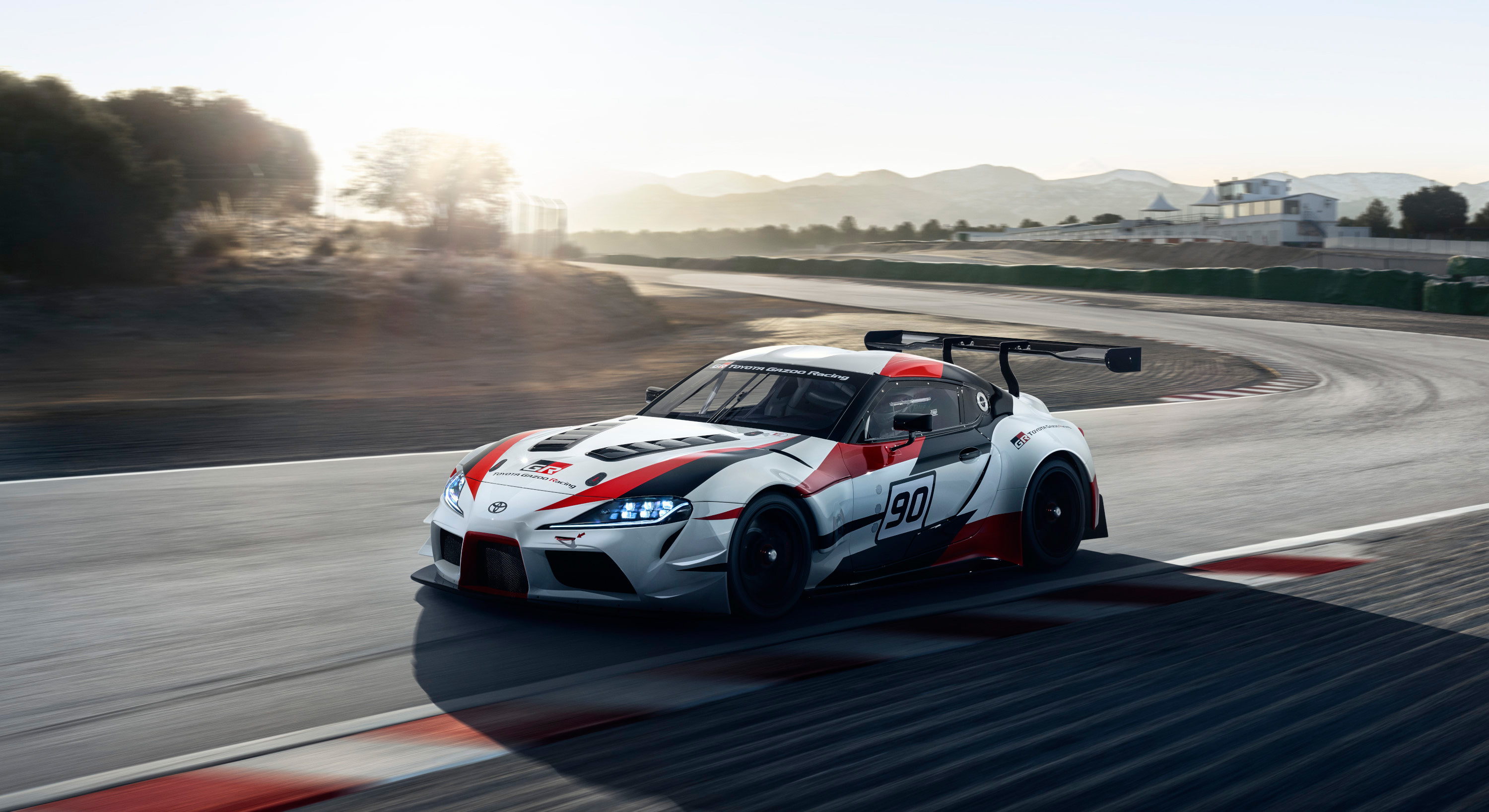 Toyota GR Supra Racing Concept - 2018 - side-face track