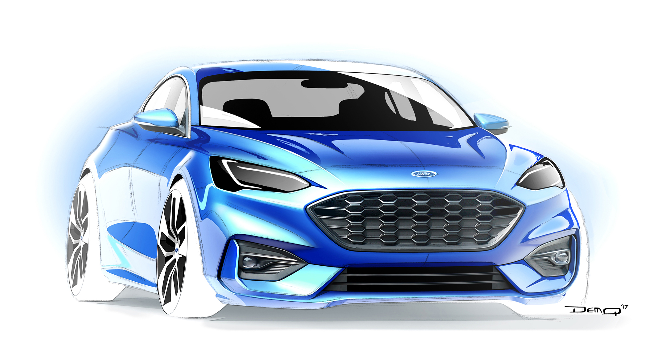 Ford Focus ST-Line - 2018 - sketch - front / avant