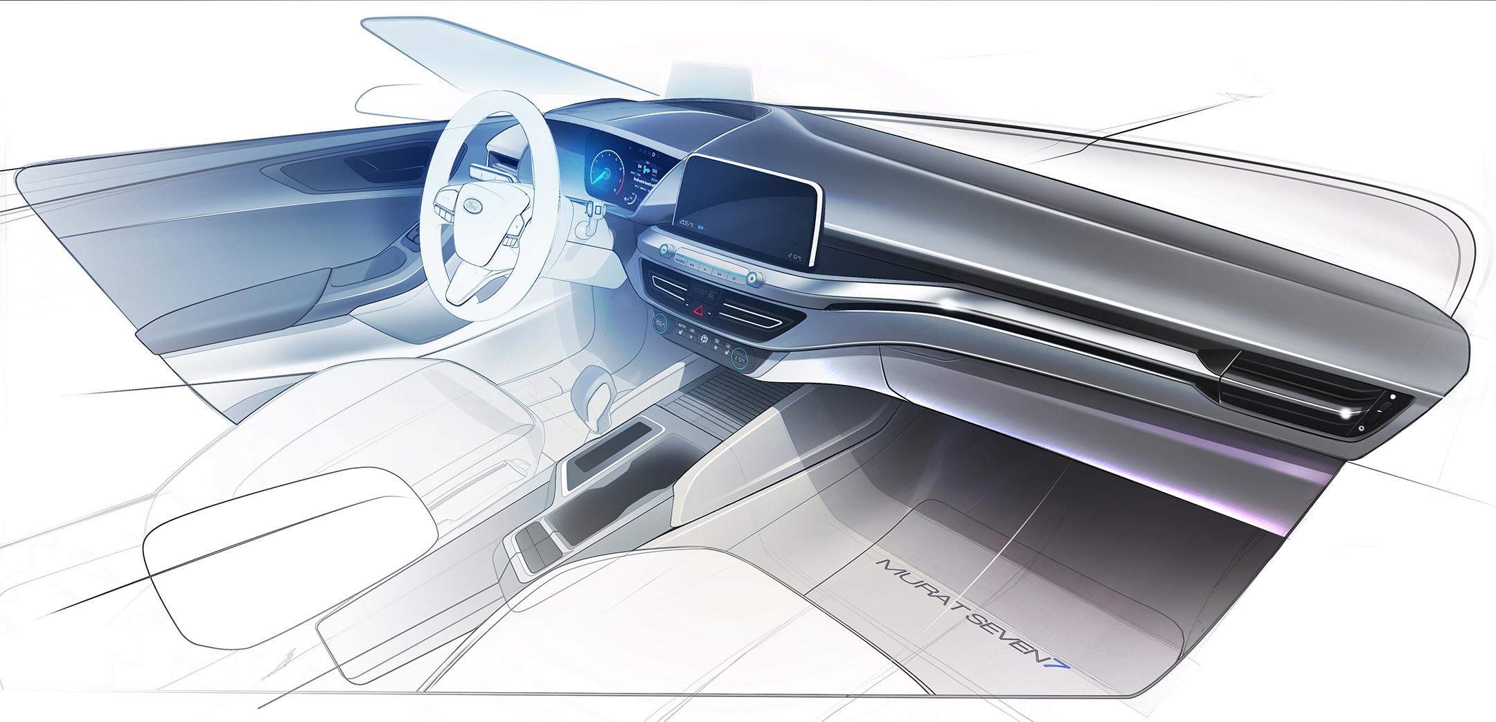 Ford Focus ST-Line - 2018 - sketch - interior / intérieur